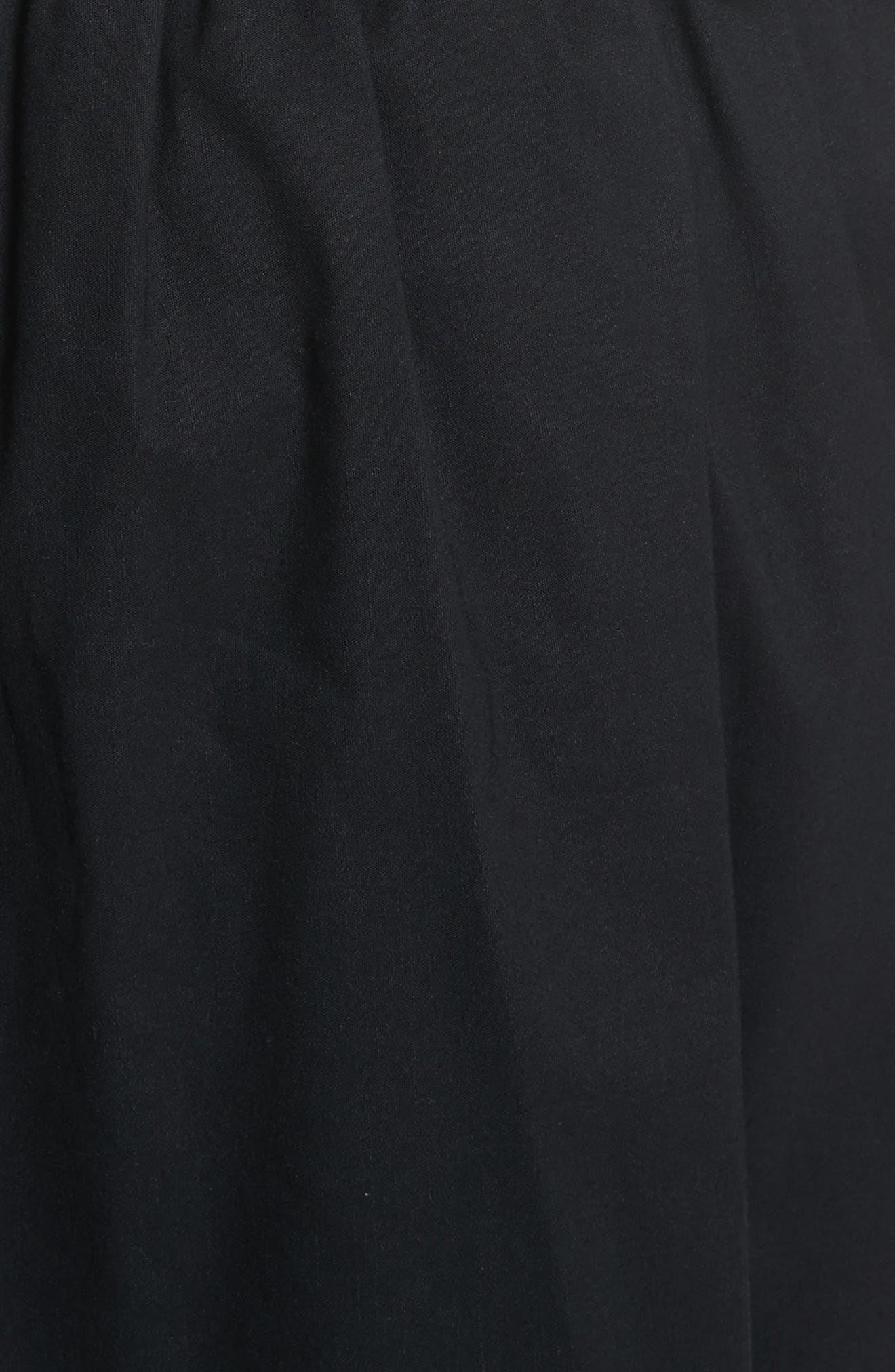 Strapless Dress,                             Alternate thumbnail 5, color,                             Black
