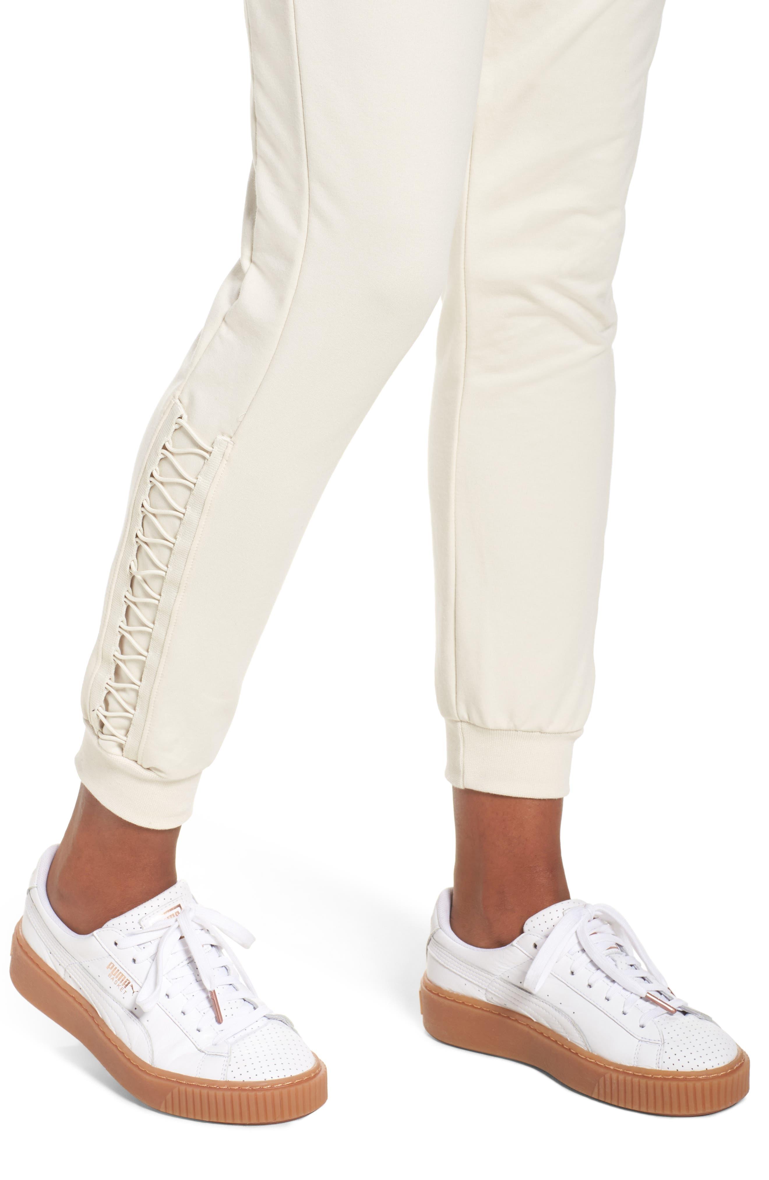 Alternate Image 4  - PUMA Lacing Sweatpants