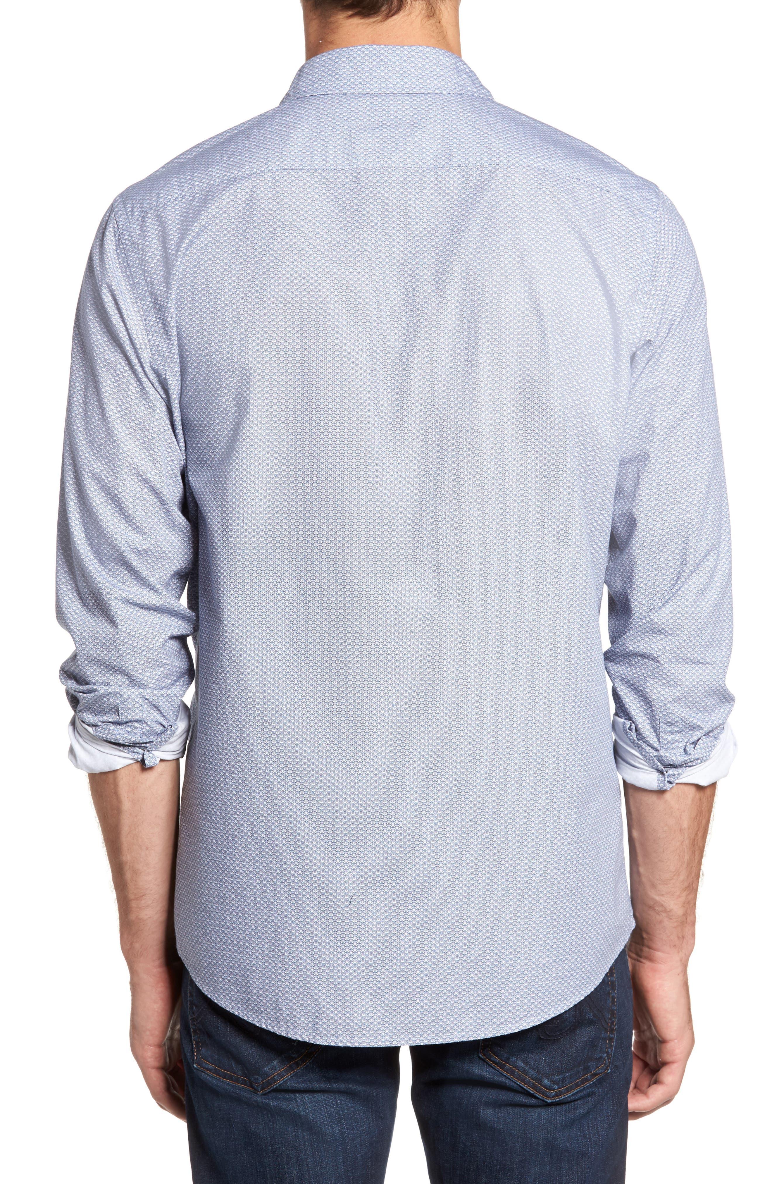 Macauley Sports Fit Print Sport Shirt,                             Alternate thumbnail 2, color,                             Royal
