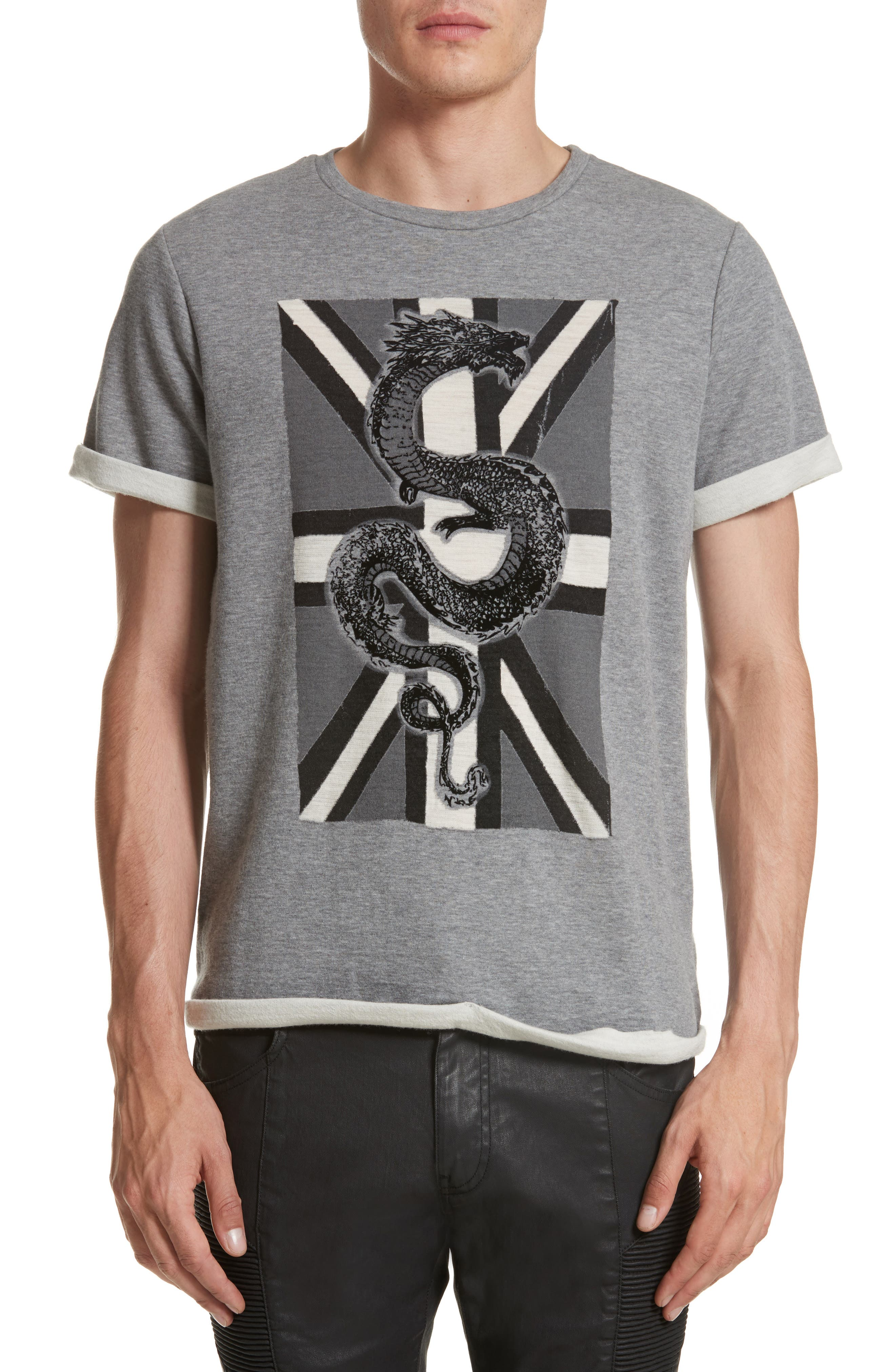 Pierre Balmain Print Fleece T-Shirt
