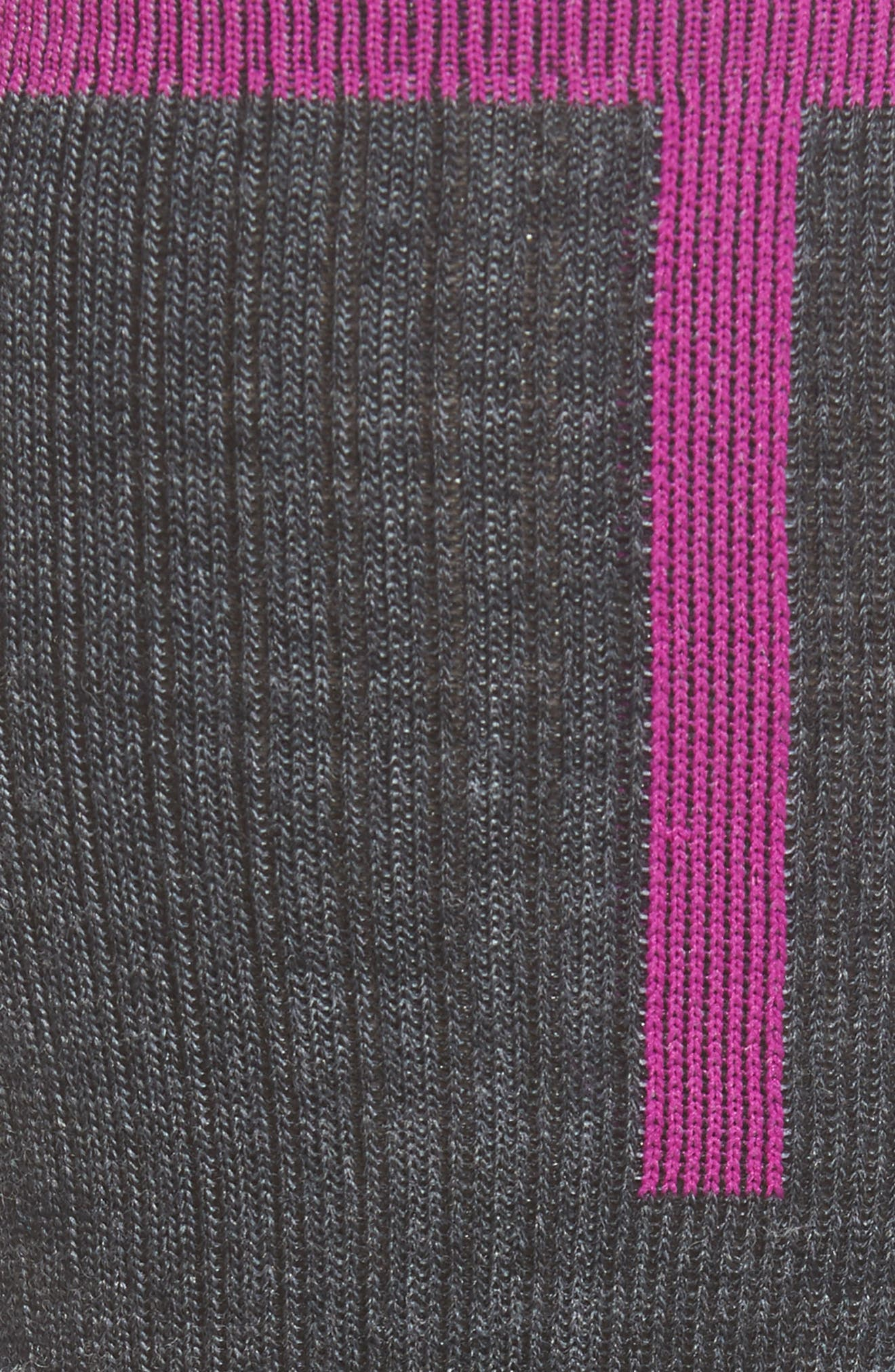 Snow Fusion Ultra Lite Ski Socks,                             Alternate thumbnail 2, color,                             Hot Magenta