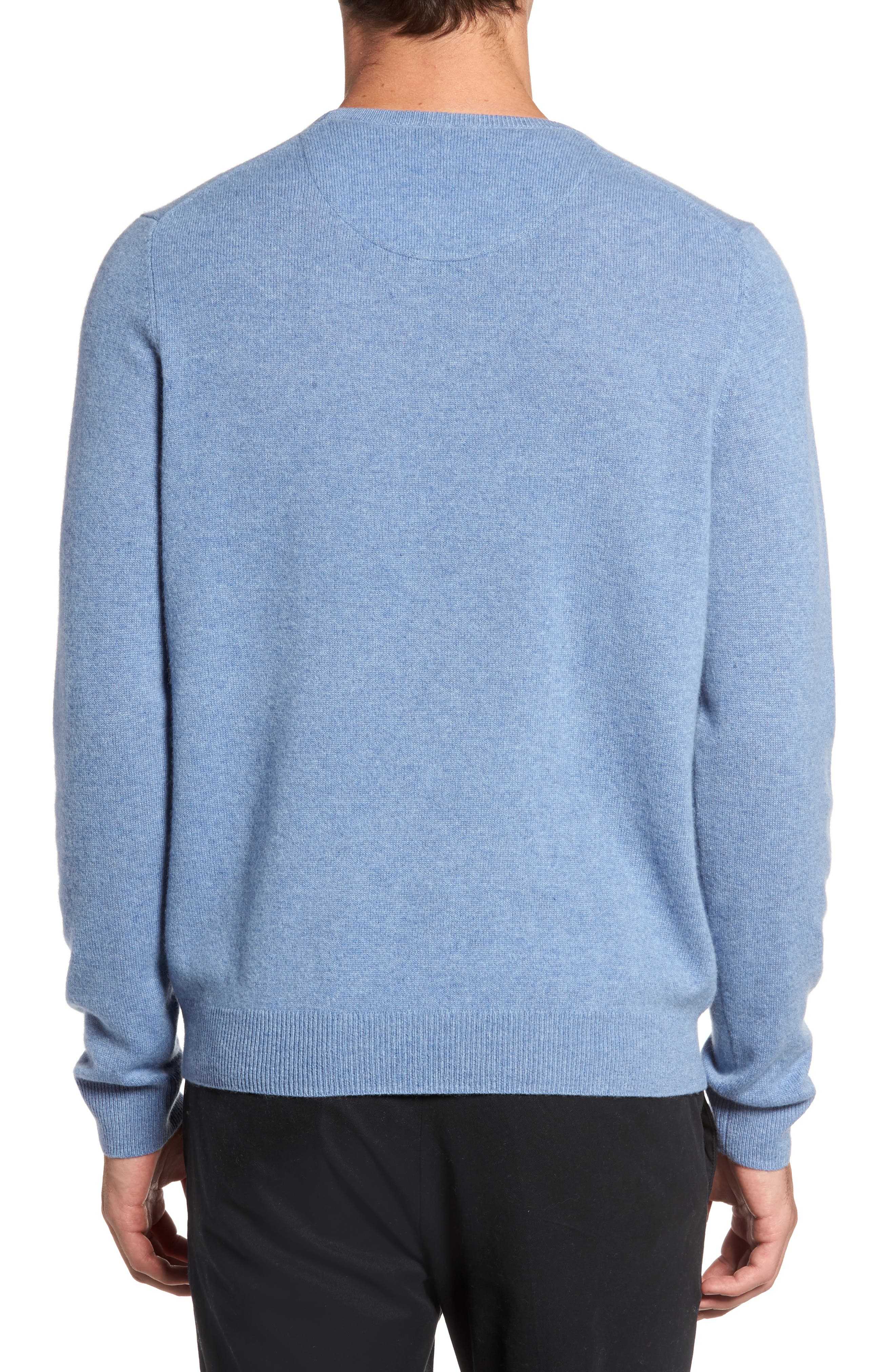 Alternate Image 2  - Nordstrom Men's Shop Cashmere Crewneck Sweater (Regular & Tall)