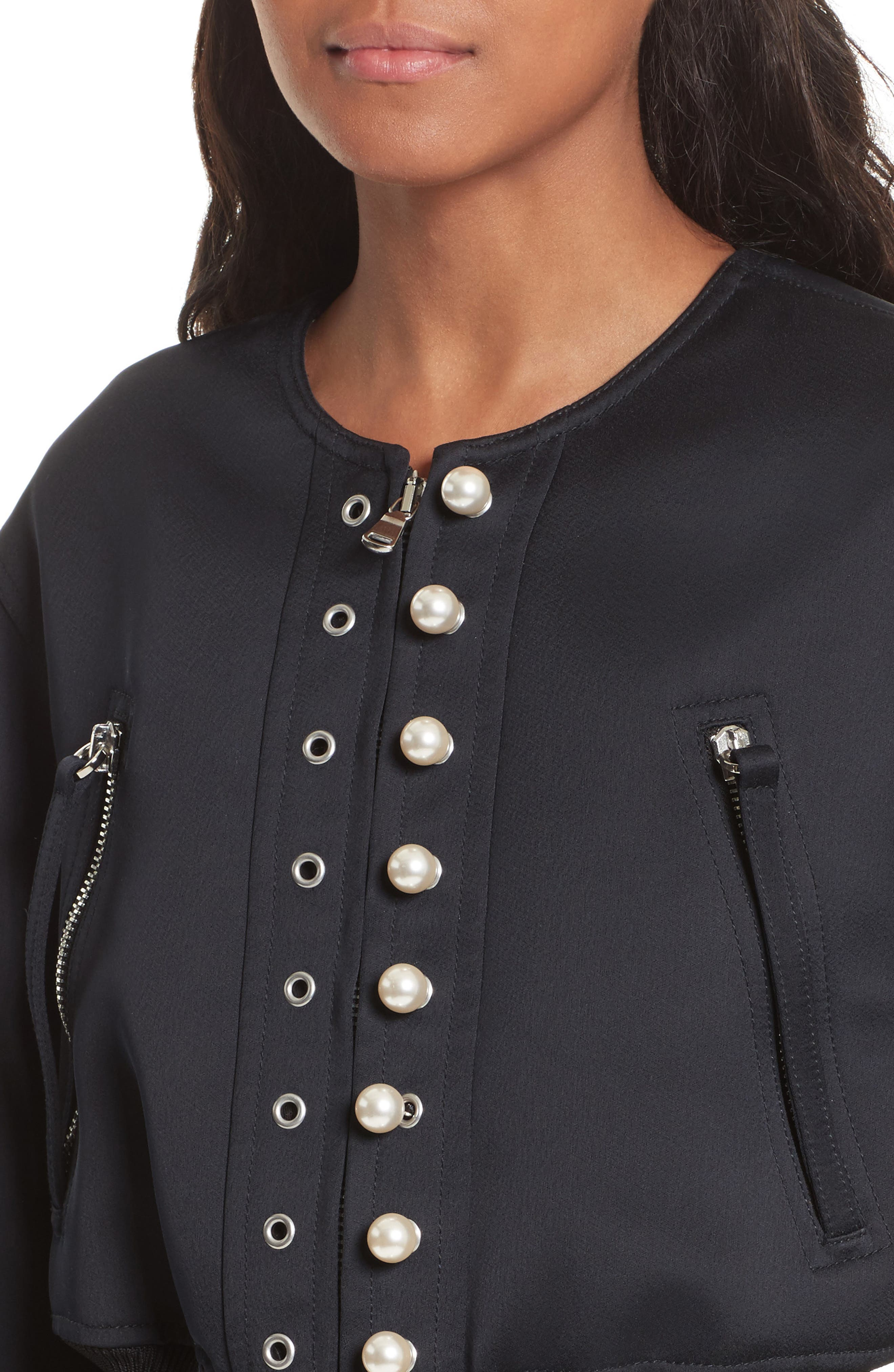 Alternate Image 4  - 3.1 Phillip Lim Grommet & Faux Pearl Embellished Bomber Jacket