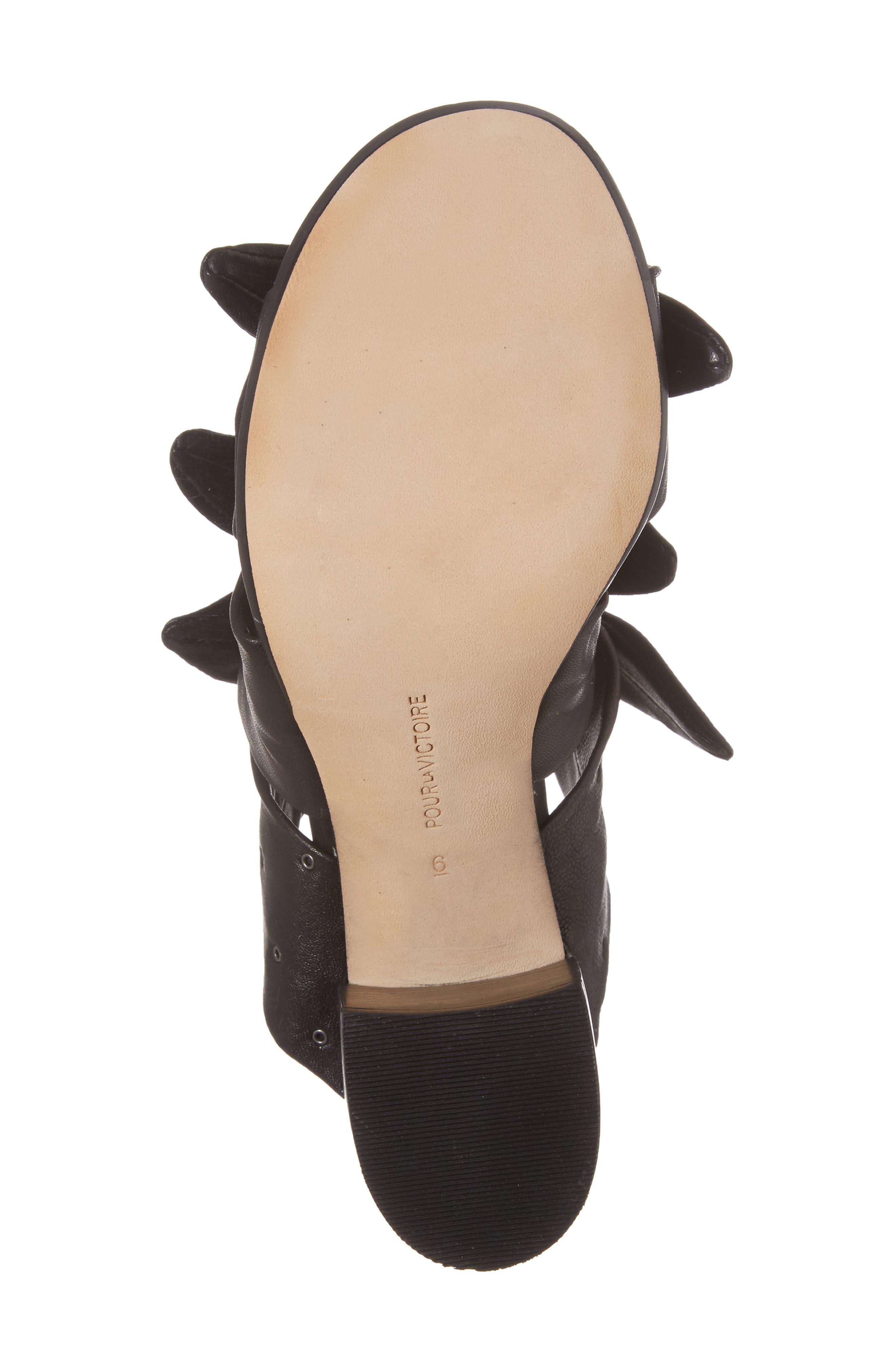 Pour la Victore Amal Block Heel Sandal,                             Alternate thumbnail 6, color,                             Black