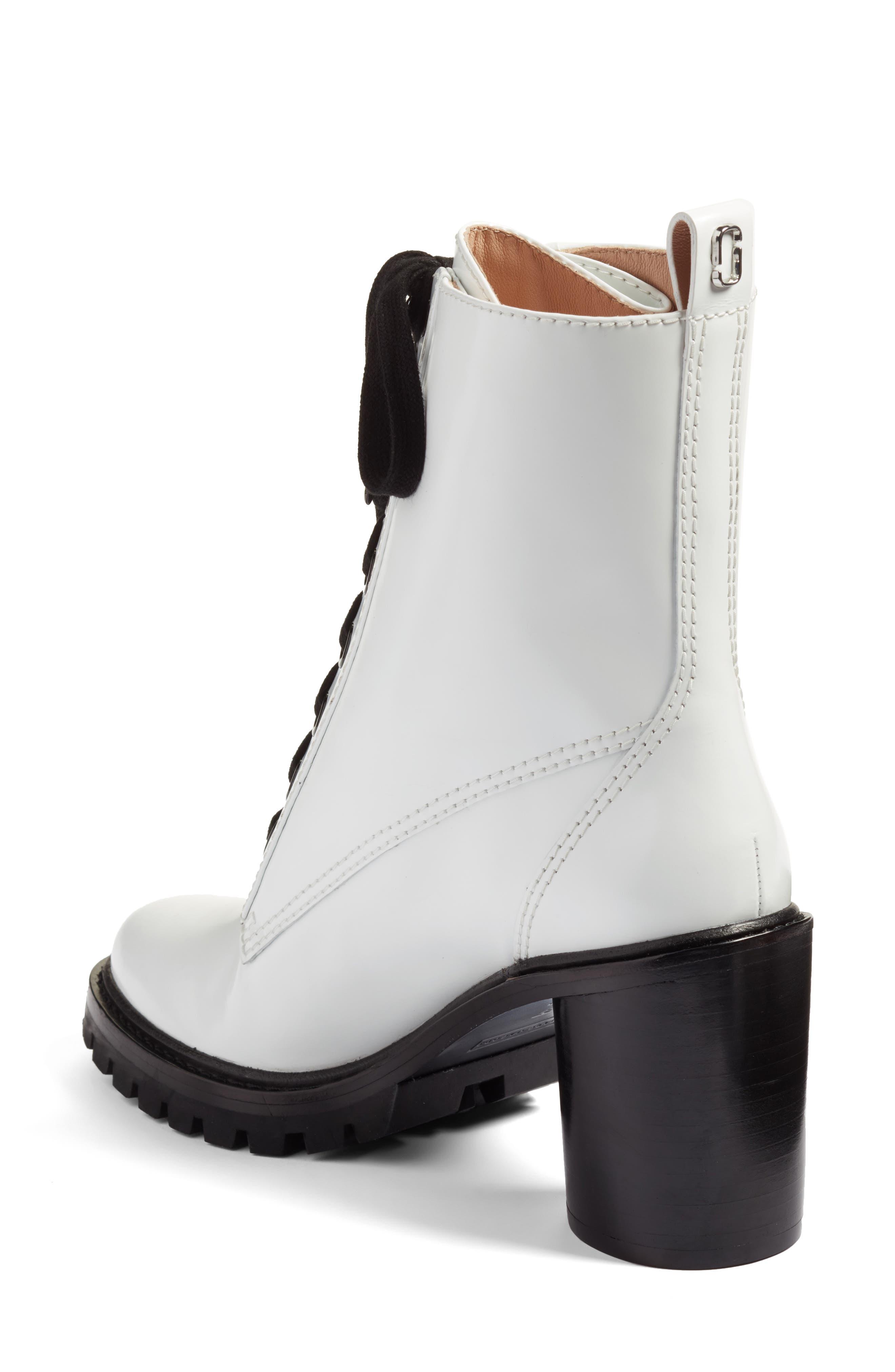 Ryder Block Heel Boot,                             Alternate thumbnail 2, color,                             White