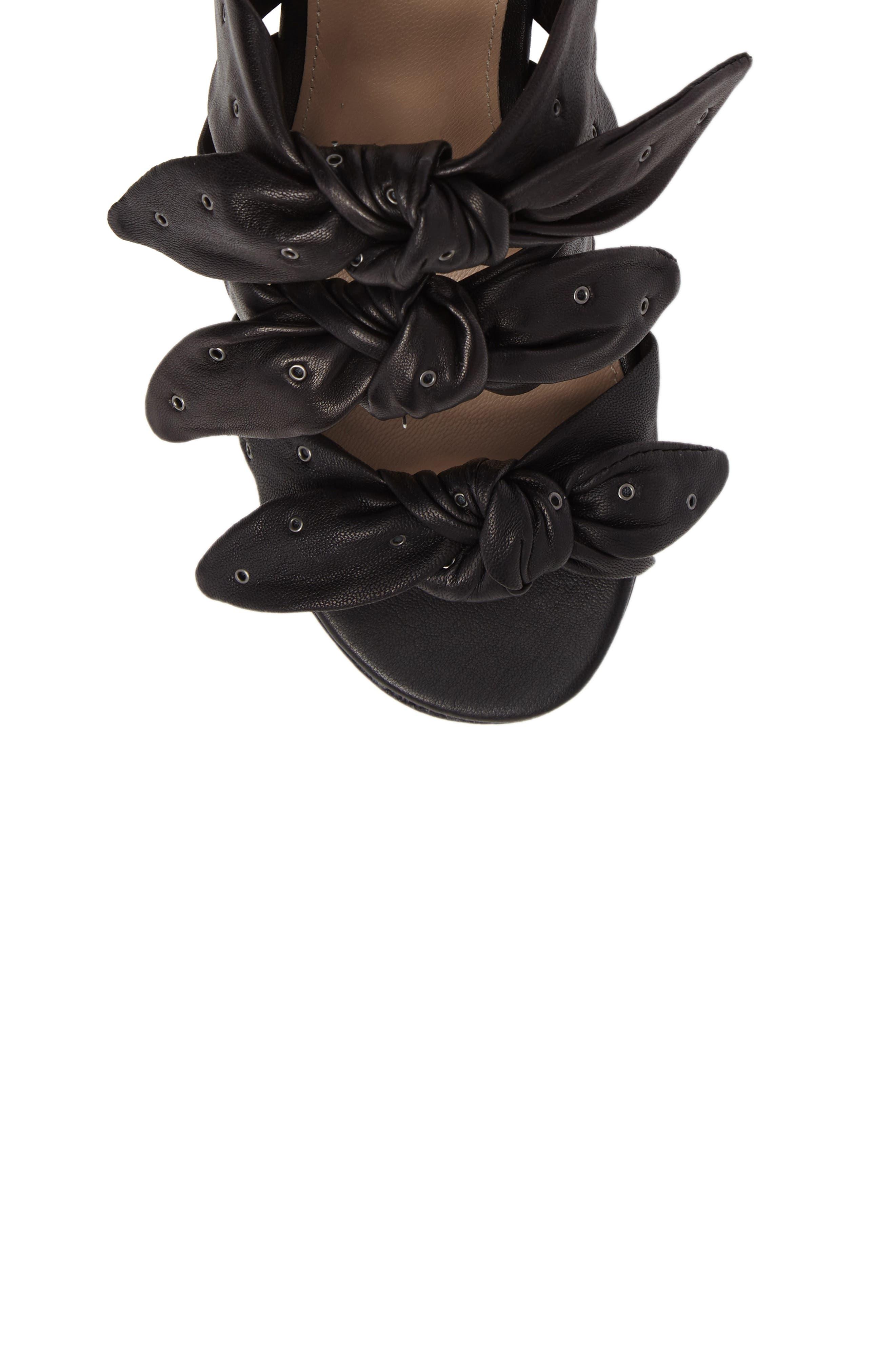 Pour la Victore Amal Block Heel Sandal,                             Alternate thumbnail 5, color,                             Black