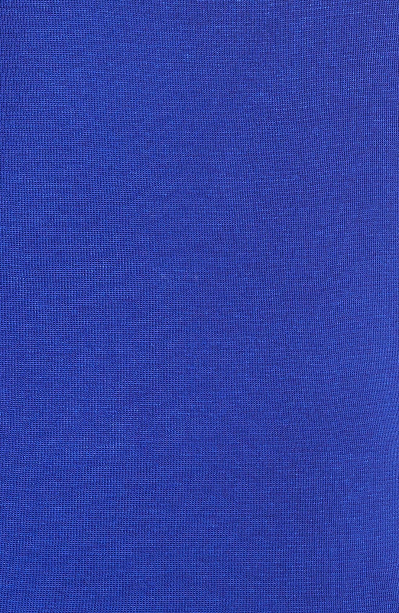Mock Neck Knit Tank,                             Alternate thumbnail 5, color,                             Blue Flame
