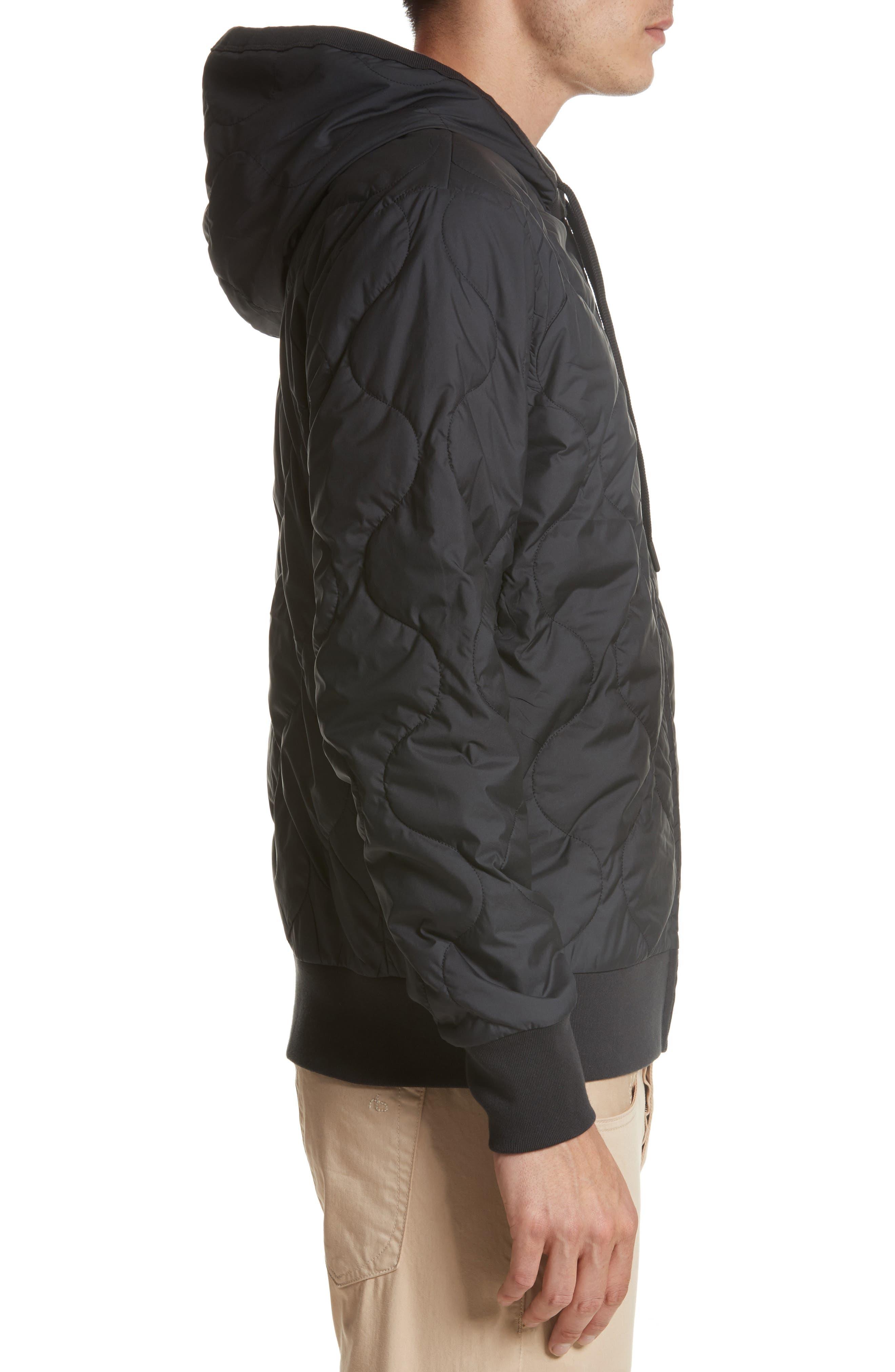 Alternate Image 3  - rag & bone Quilted Zip Hoodie