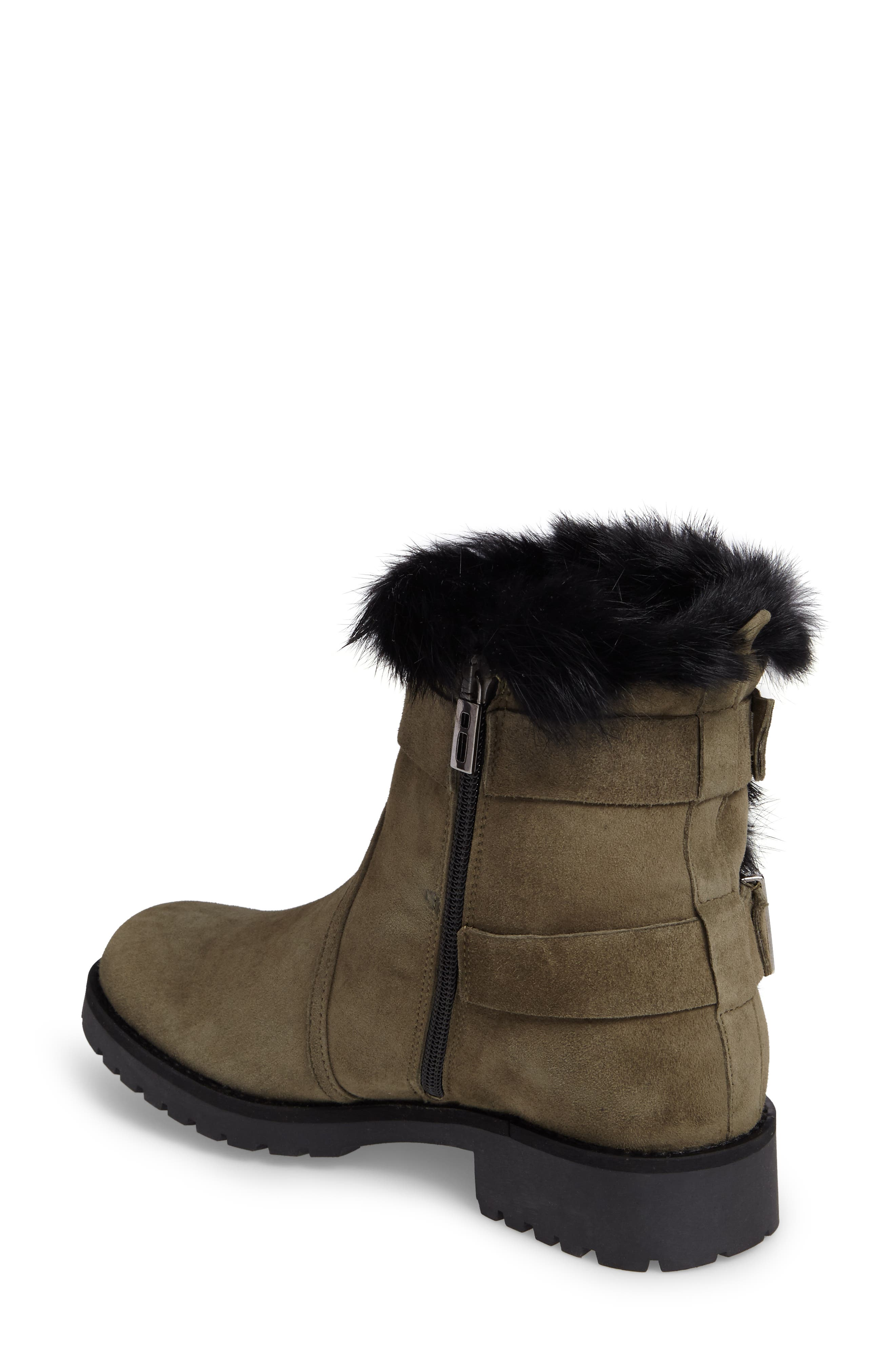 Alternate Image 2  - Charles David Rustic Genuine Rabbit Fur Cuff Boot (Women)