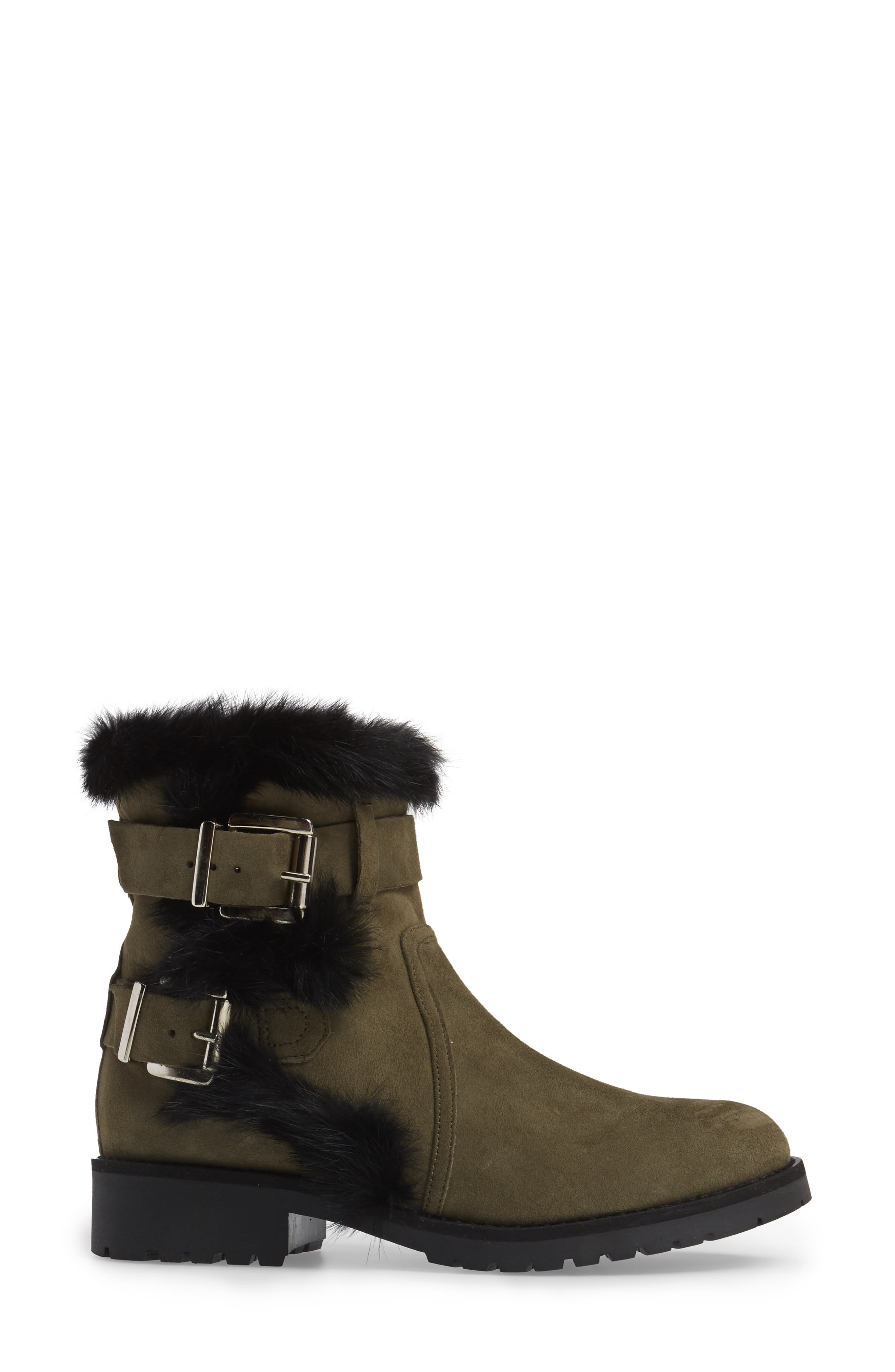 Alternate Image 3  - Charles David Rustic Genuine Rabbit Fur Cuff Boot (Women)