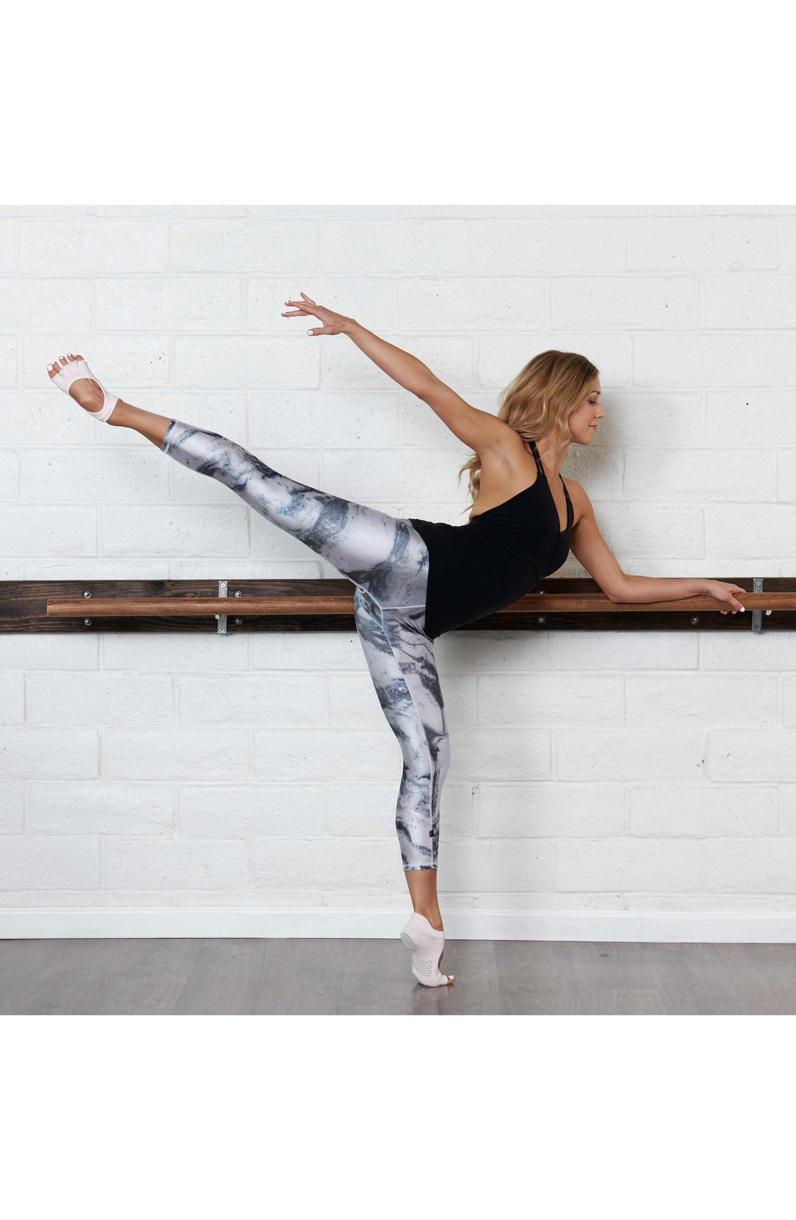 Alternate Image 3  - ToeSox 'Dance Plié' Half-Toe Gripper Socks