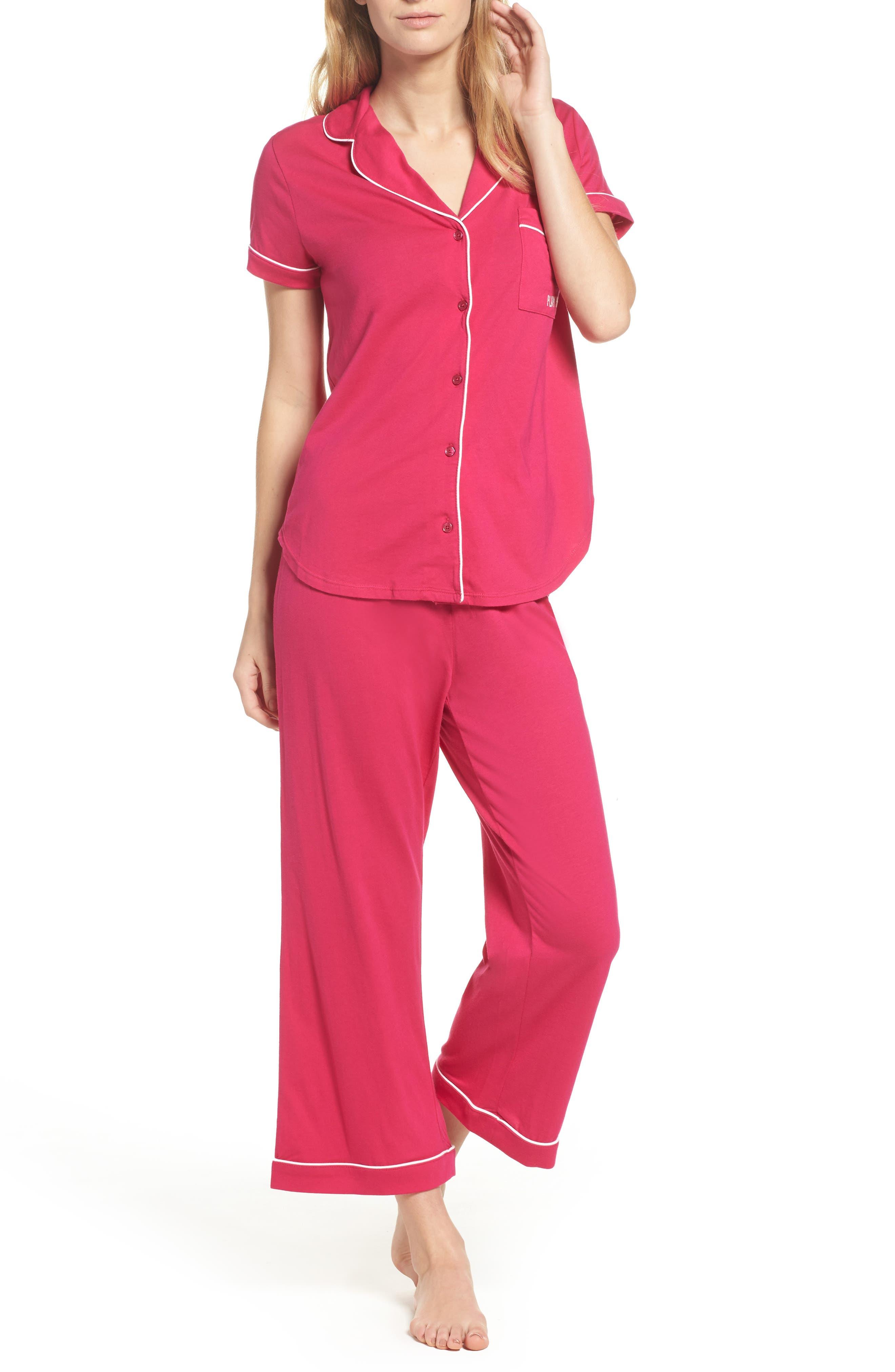 capri pajamas,                         Main,                         color, Pink
