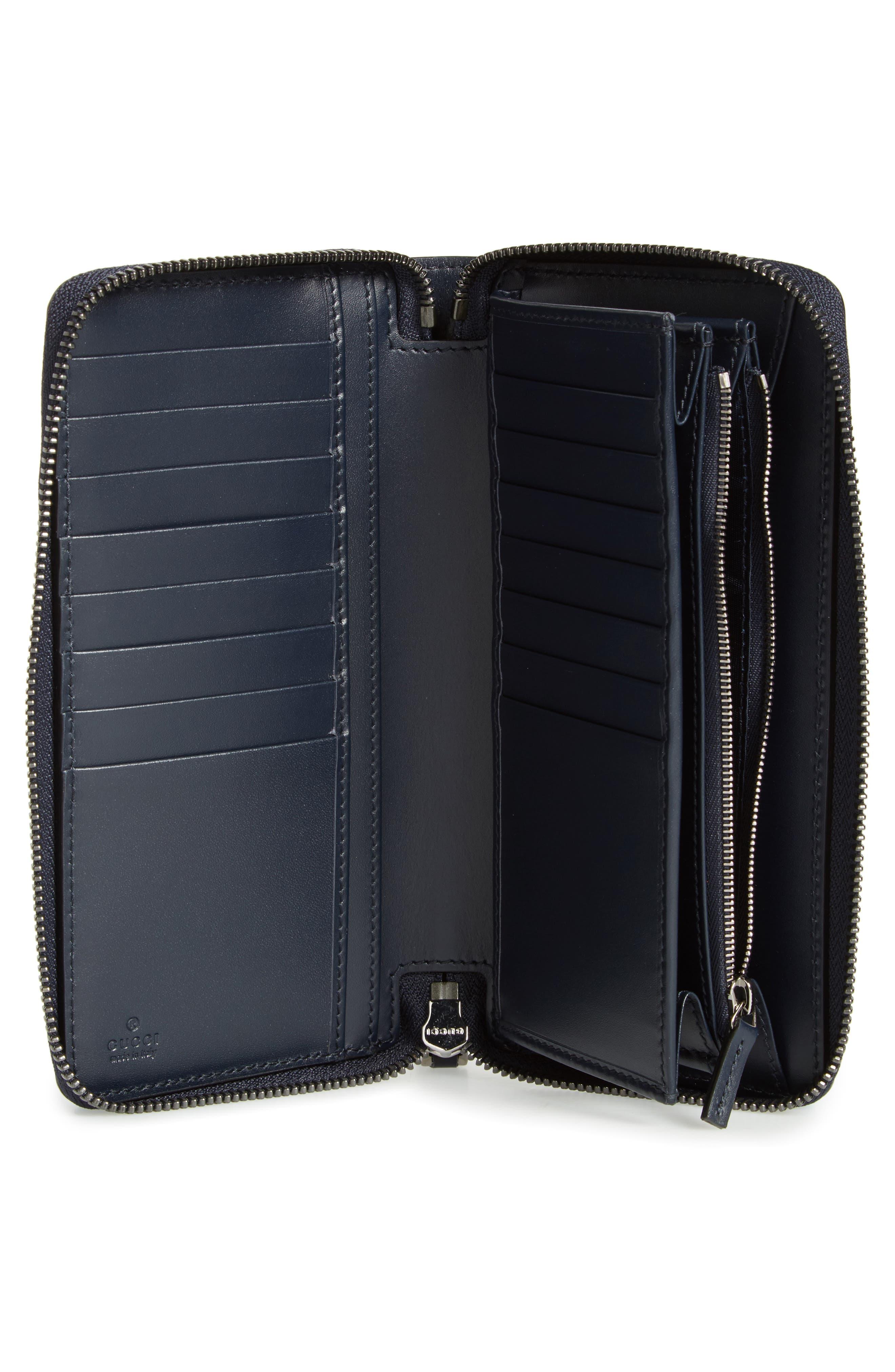 Avel Zip Wallet,                             Alternate thumbnail 3, color,                             Blue