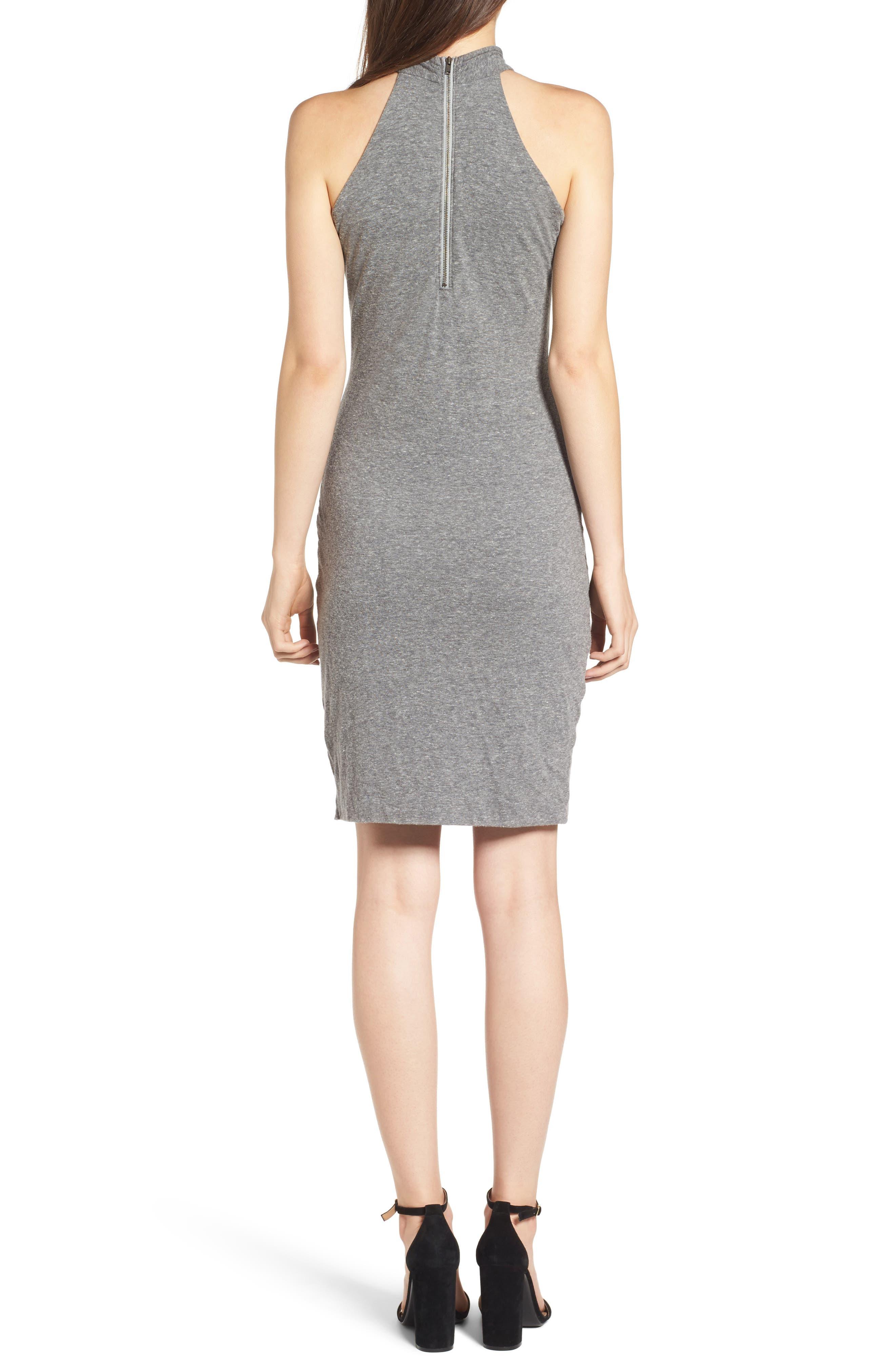 Alternate Image 2  - Pam & Gela Twist Collar Body-Con Dress