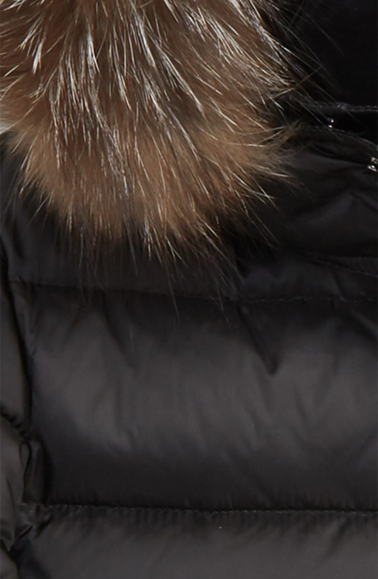 Lilian Water Resistant Down Parka with Genuine Fox Fur Trim,                             Alternate thumbnail 2, color,                             Black