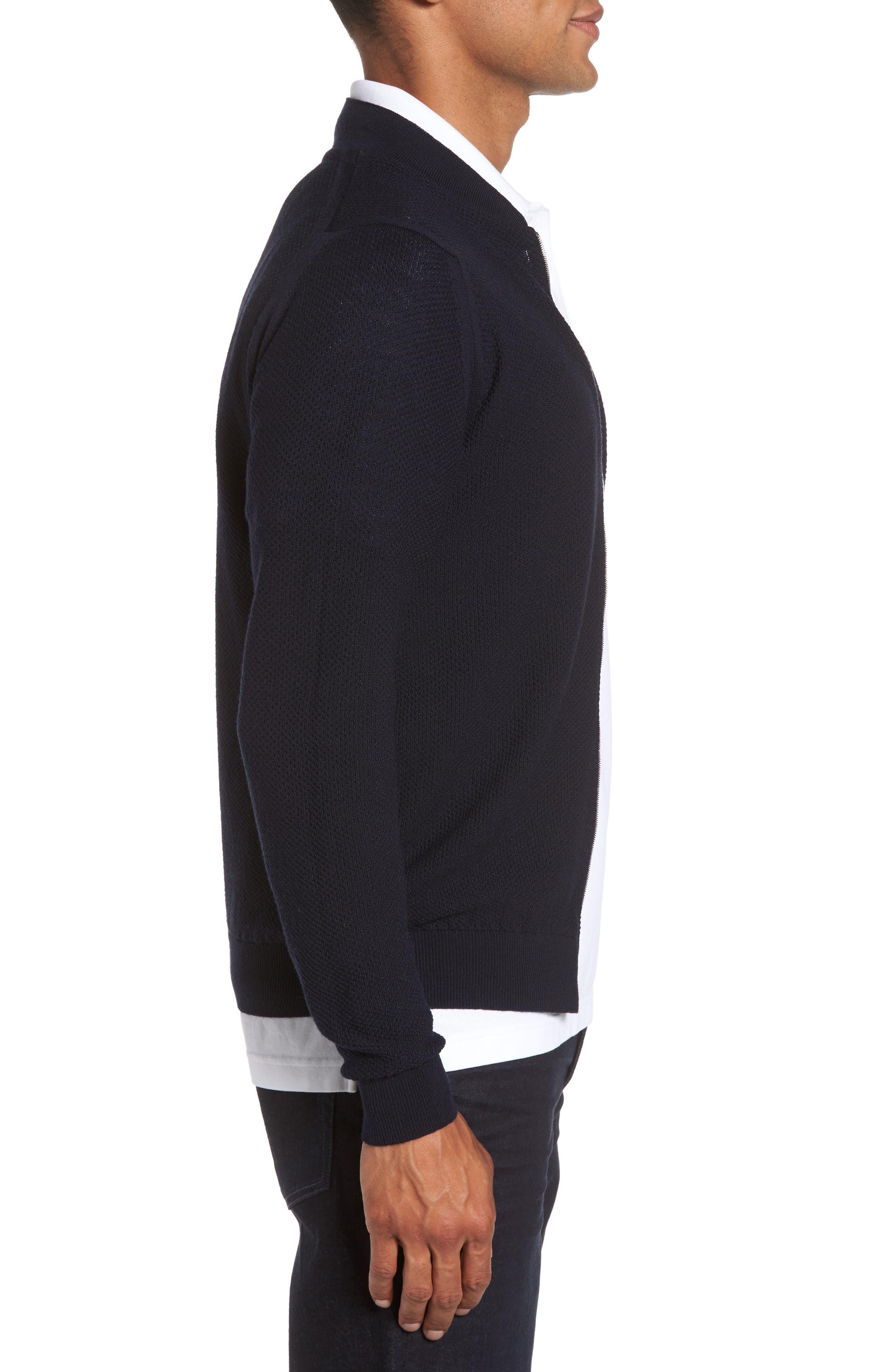 Alternate Image 3  - John Smedley Standard Fit Merino Wool Knit Jacket