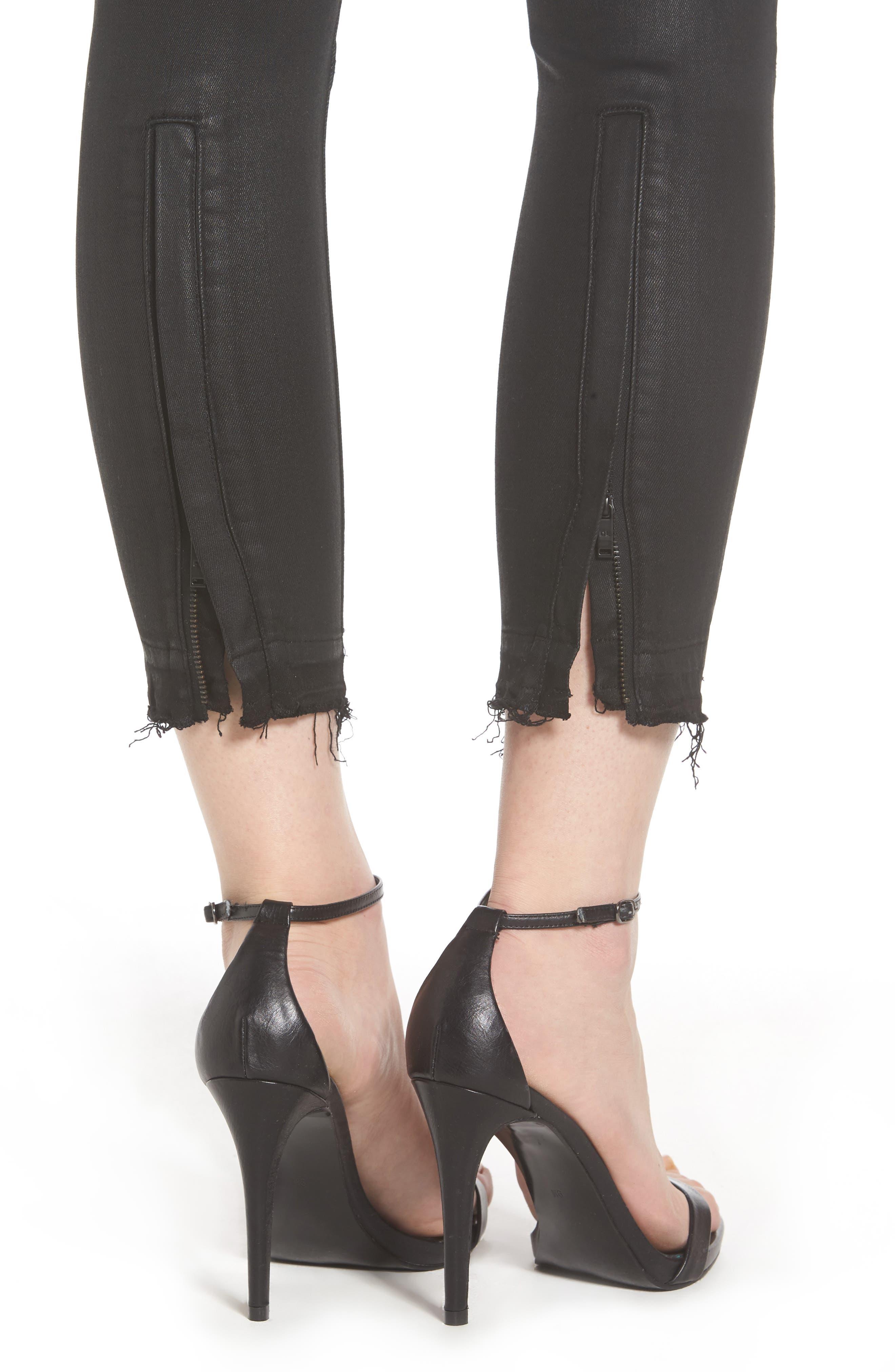 Alternate Image 4  - DL1961 Florence Instasculpt Crop Skinny Jeans (Tarty)