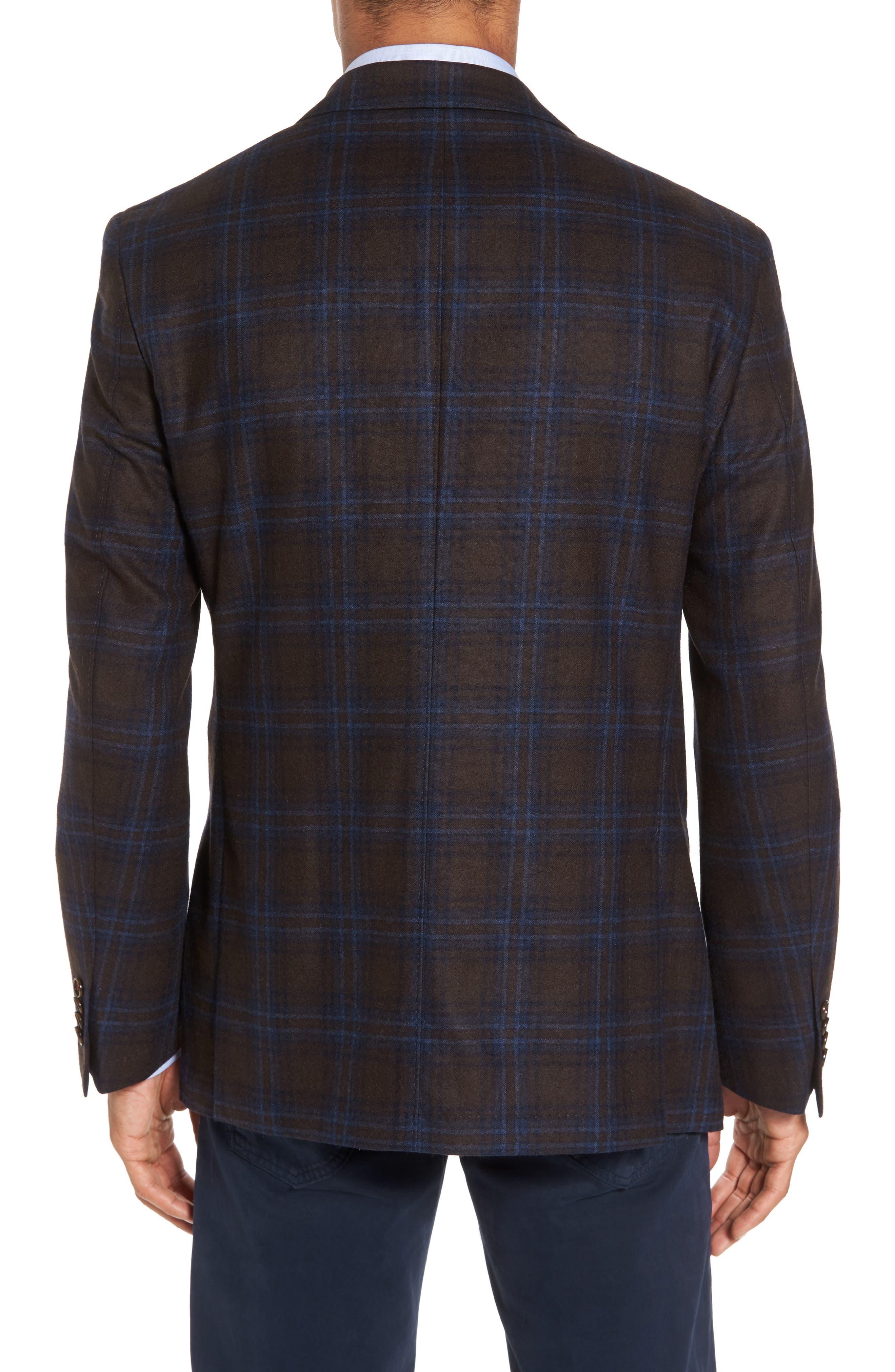 Alternate Image 2  - JKT New York Trim Fit Plaid Wool Blend Sport Coat