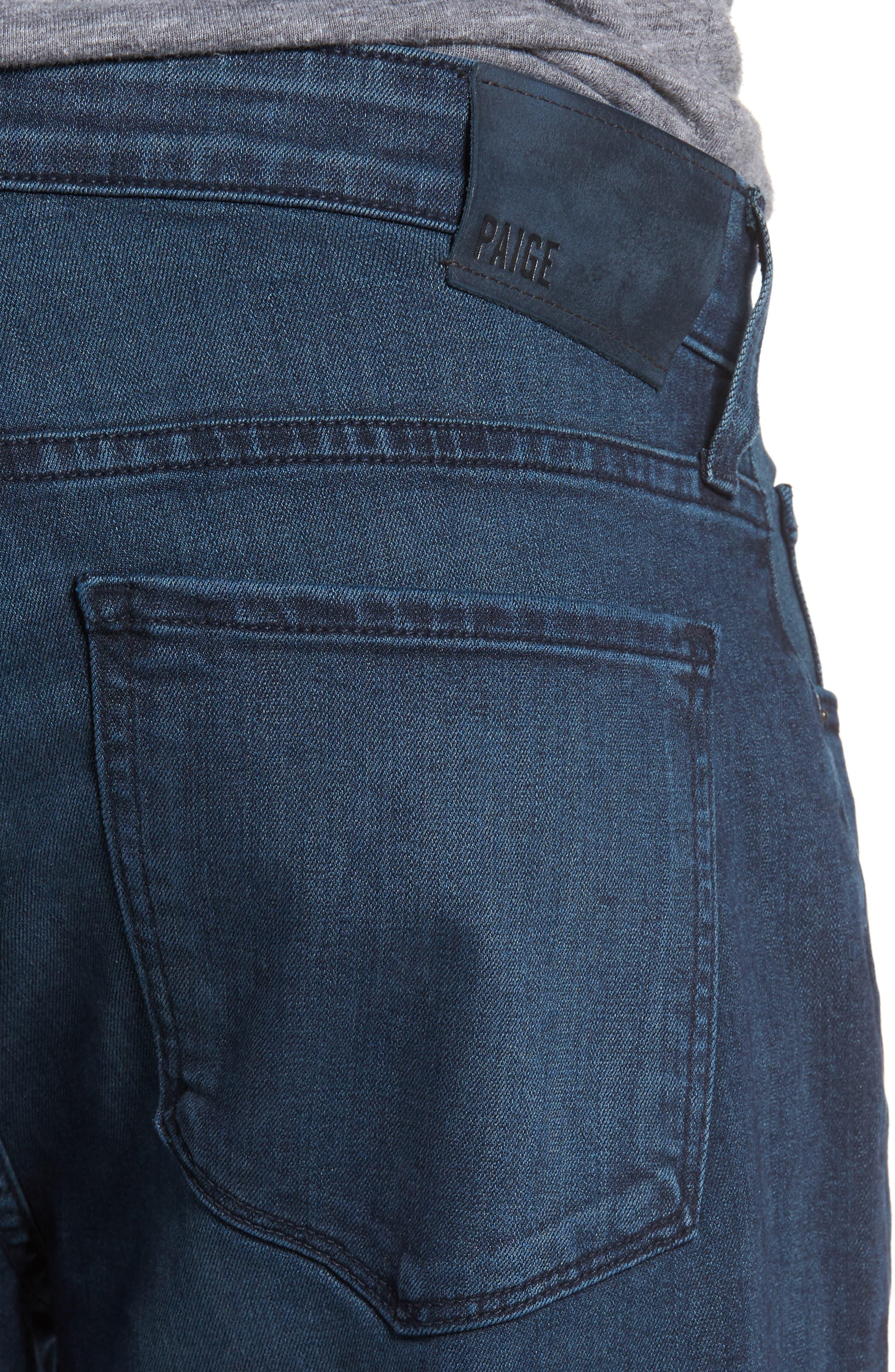 Transcend - Federal Slim Straight Fit Jeans,                             Alternate thumbnail 4, color,                             Elroy