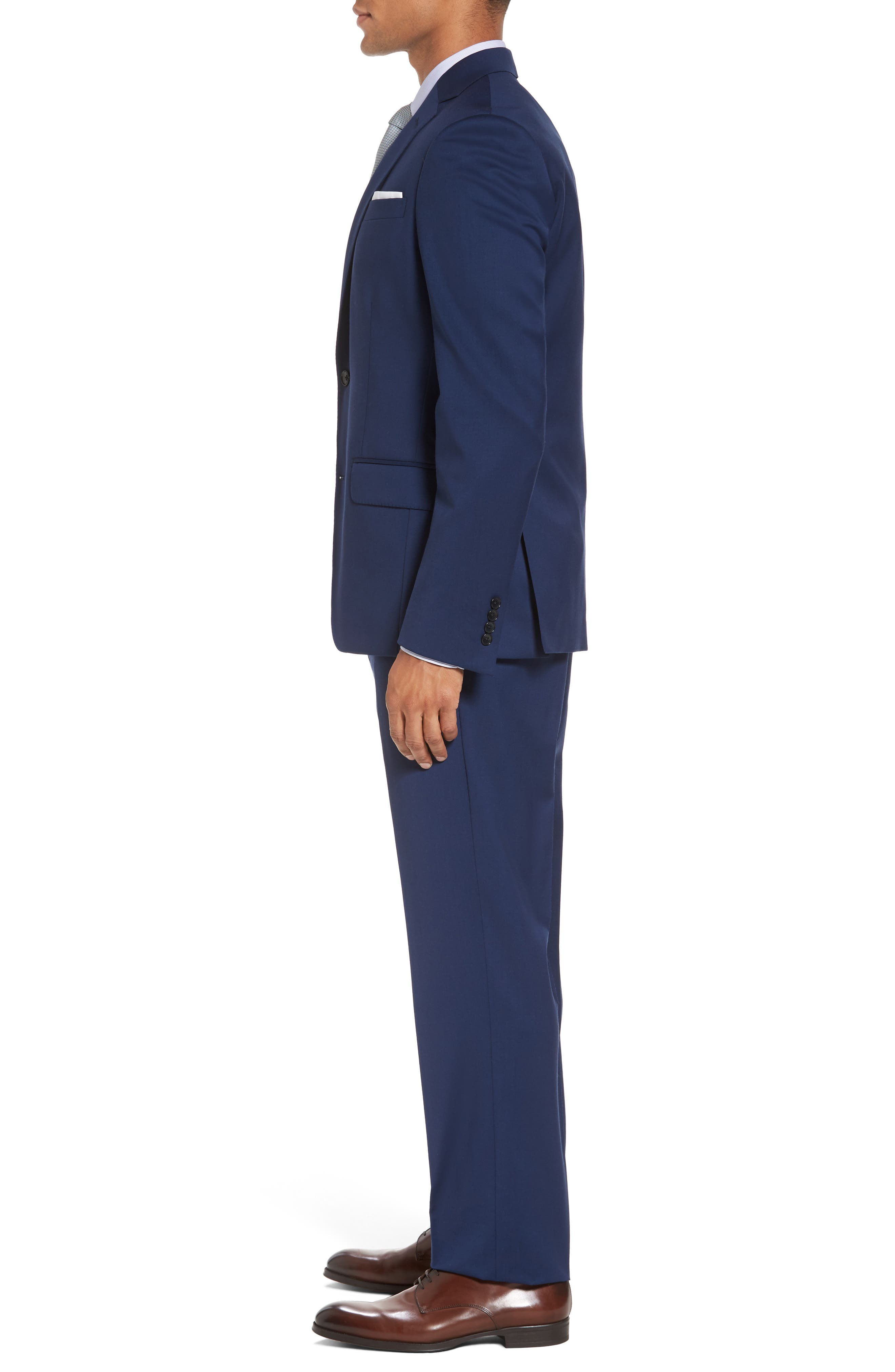 Classic Fit Solid Wool Suit,                             Alternate thumbnail 3, color,                             High Blue