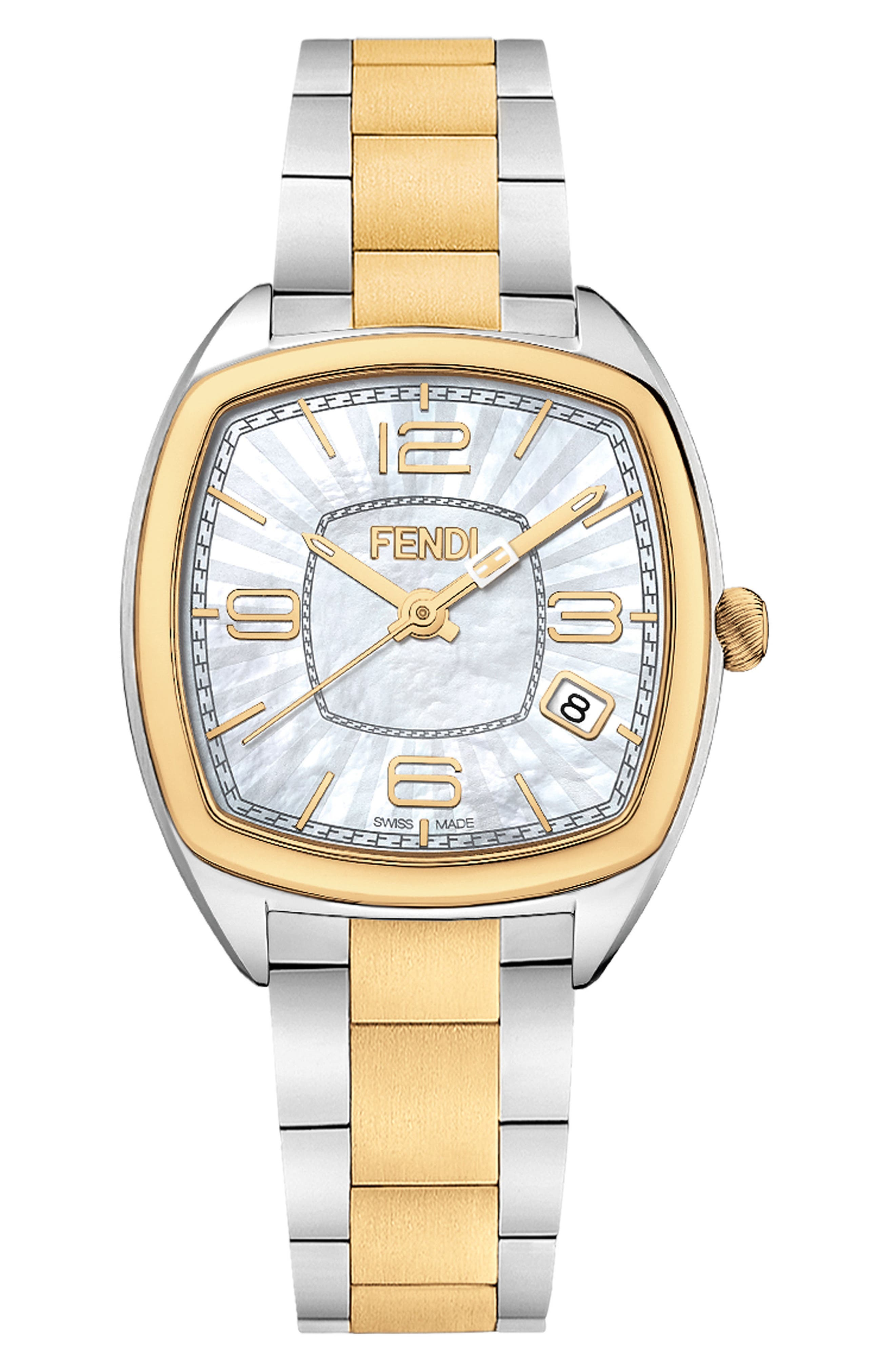 Alternate Image 1 Selected - Fendi Momento Square Bracelet Watch, 32mm