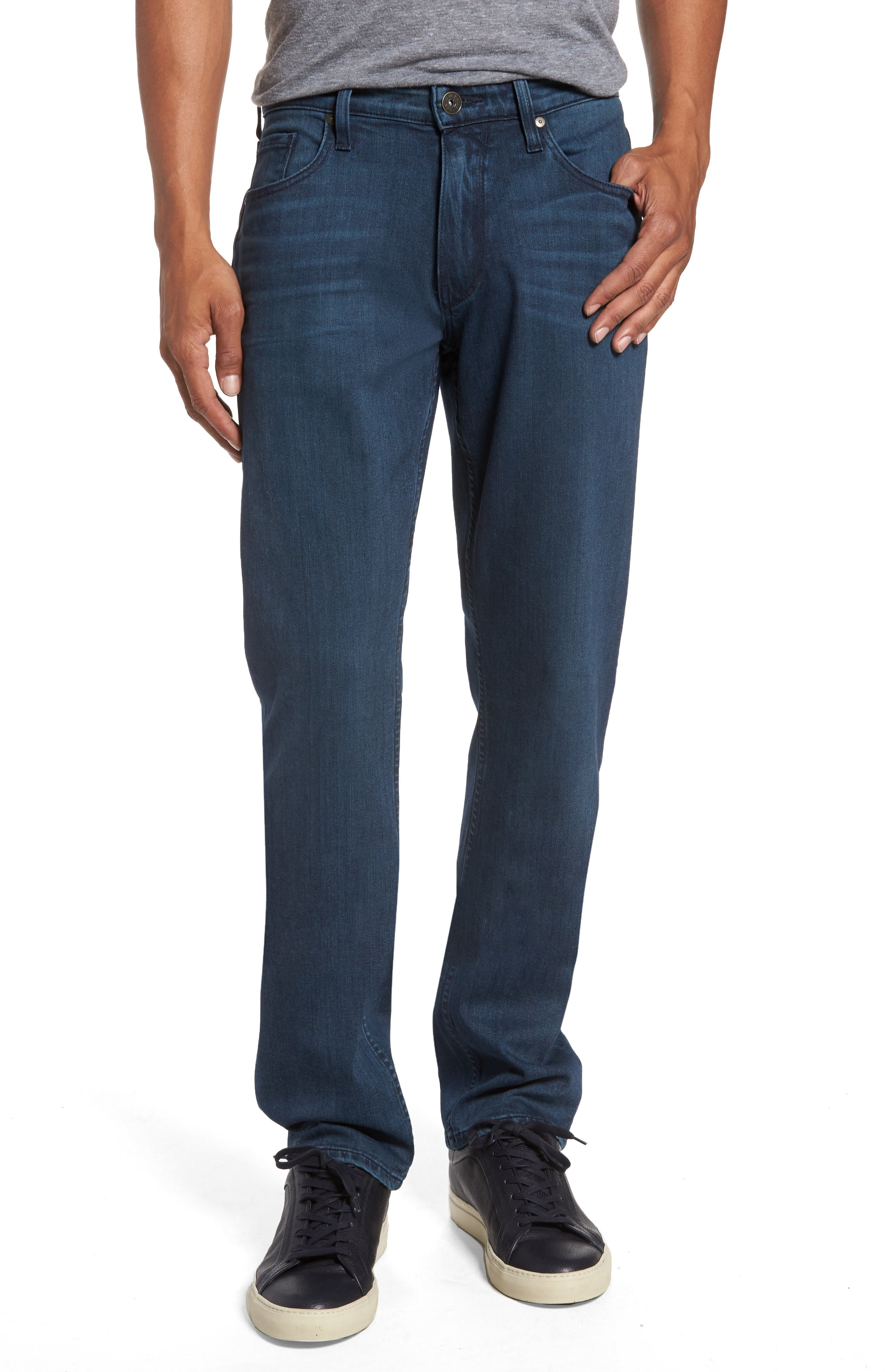 Main Image - PAIGE Transcend - Federal Slim Straight Fit Jeans (Elroy)