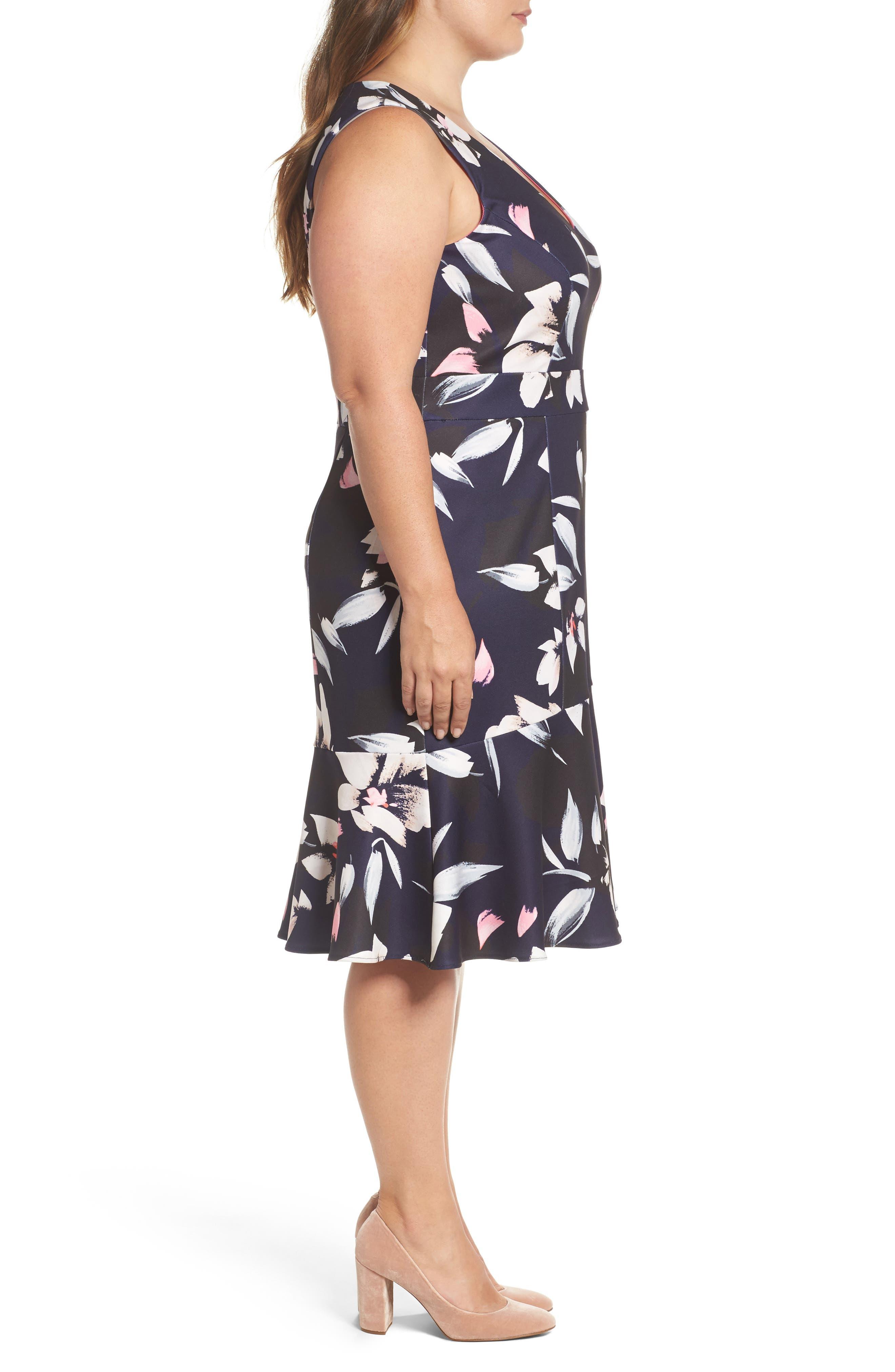 Sheath Dress,                             Alternate thumbnail 3, color,                             Blue Multi