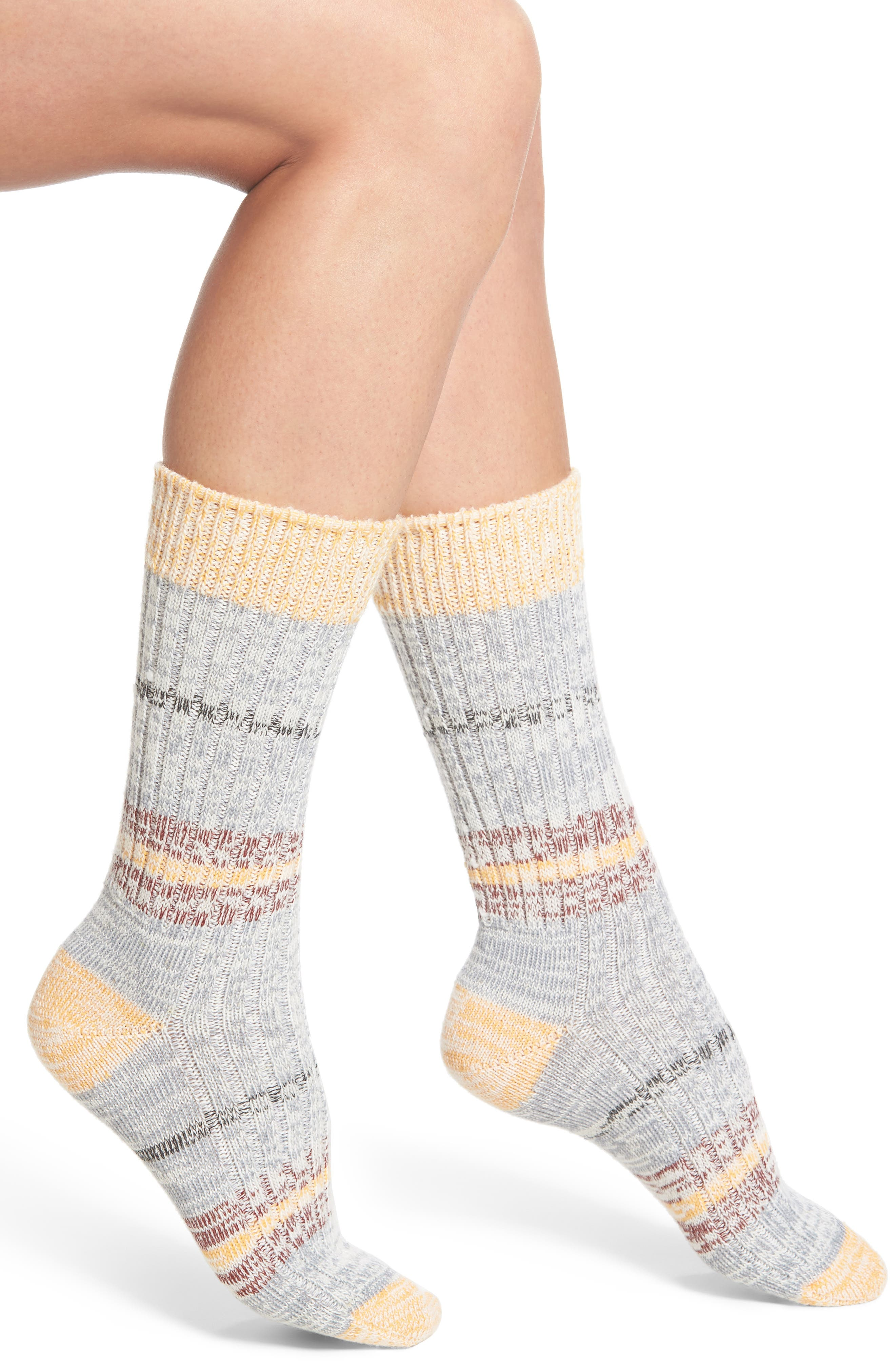 Mingle Crew Socks,                         Main,                         color, Yam