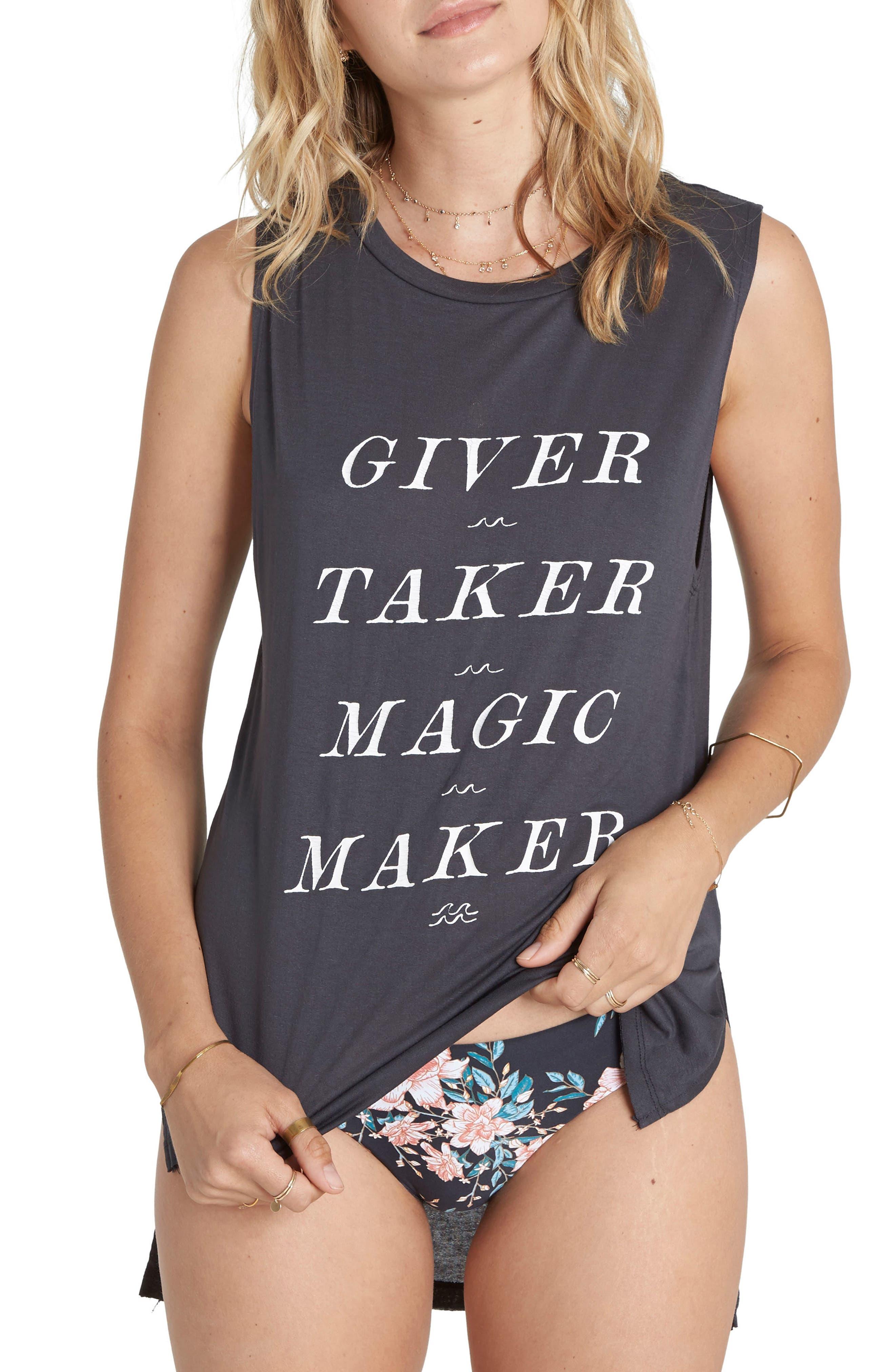 Billabong Giver Taker Magic Maker Graphic Tank