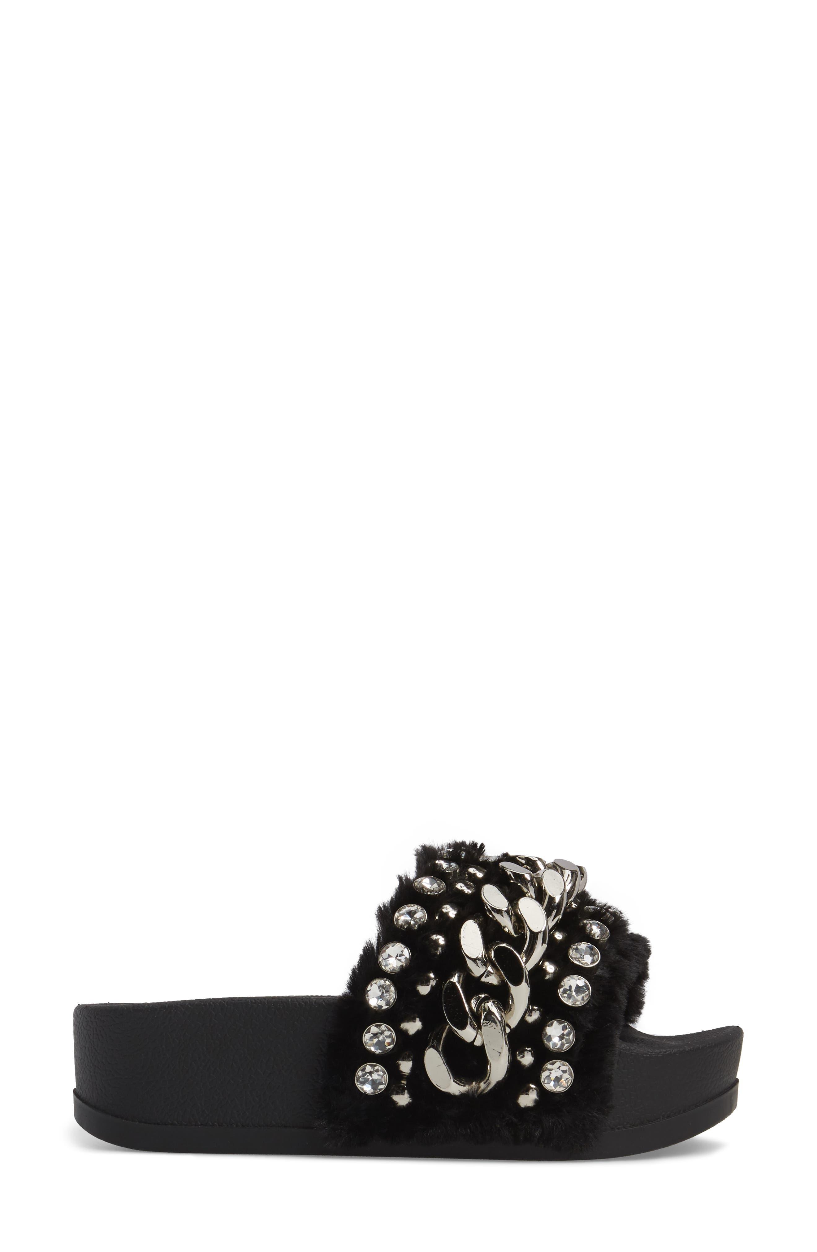 Alternate Image 3  - Jeffrey Campbell Edie Faux Fur Slide Sandal (Women)