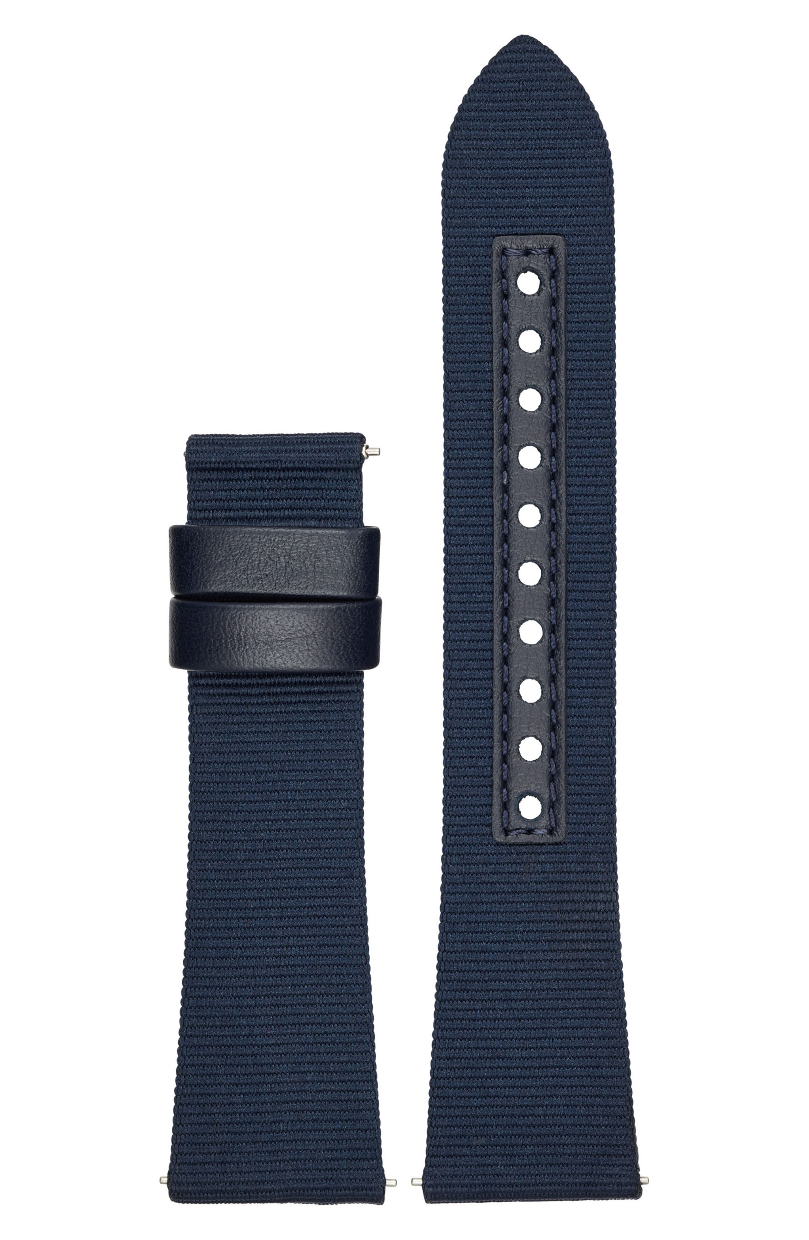 22mm Canvas Watch Strap,                         Main,                         color, Navy