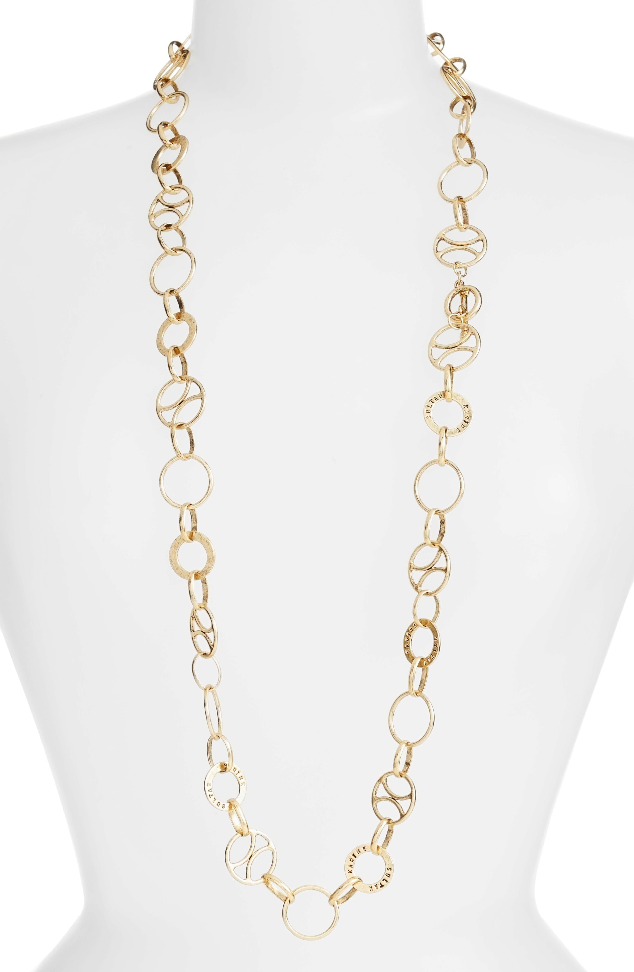 KARINE SULTAN Long Link Necklace