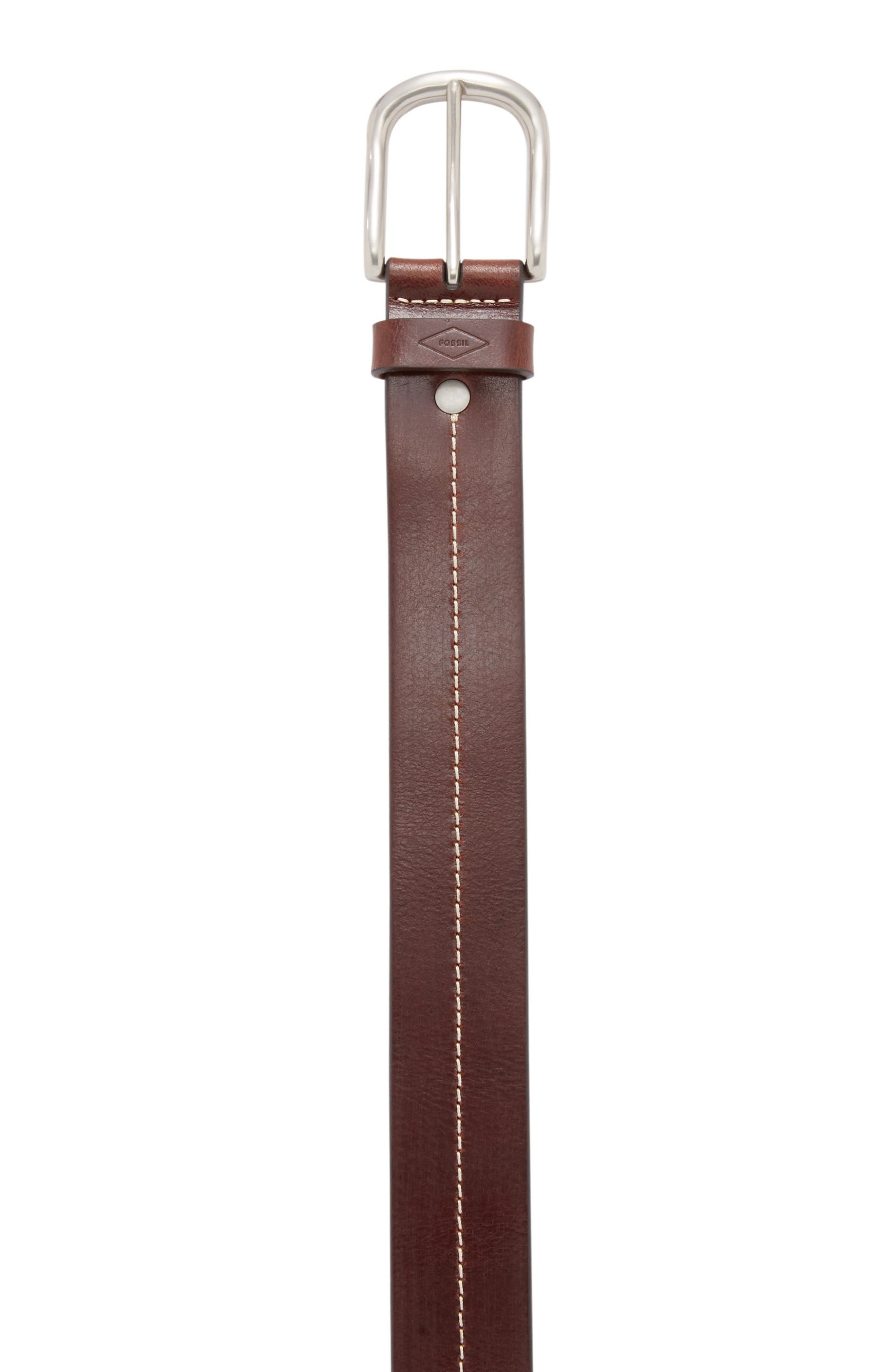Cullen Leather Belt,                             Alternate thumbnail 2, color,                             Dark Brown