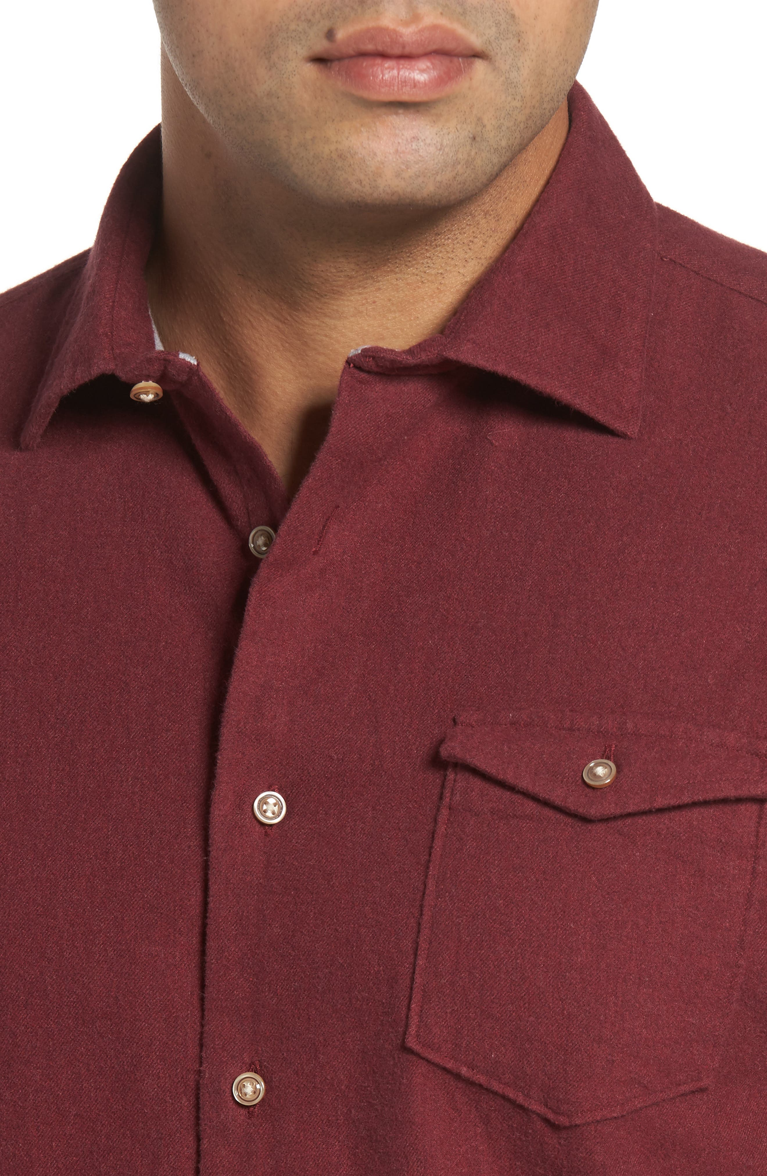 Alternate Image 4  - johnnie-O Patch Classic Fit Sport Shirt