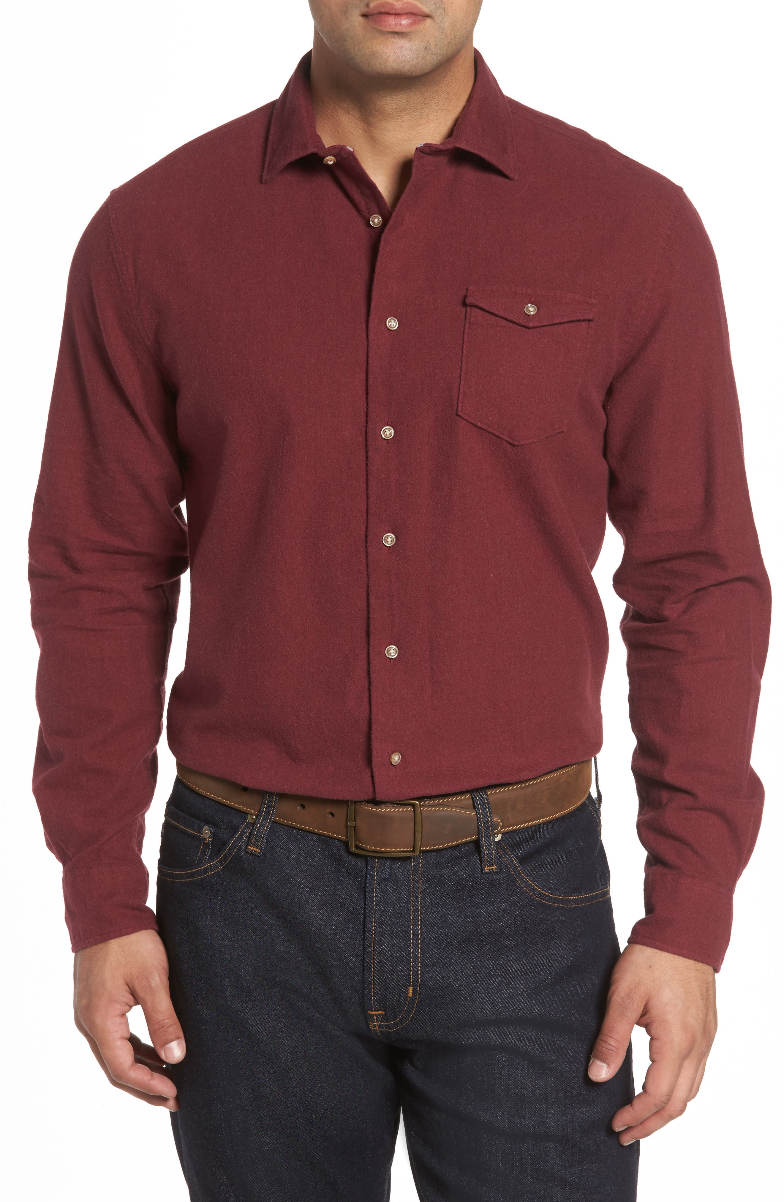 Alternate Image 1 Selected - johnnie-O Patch Classic Fit Sport Shirt