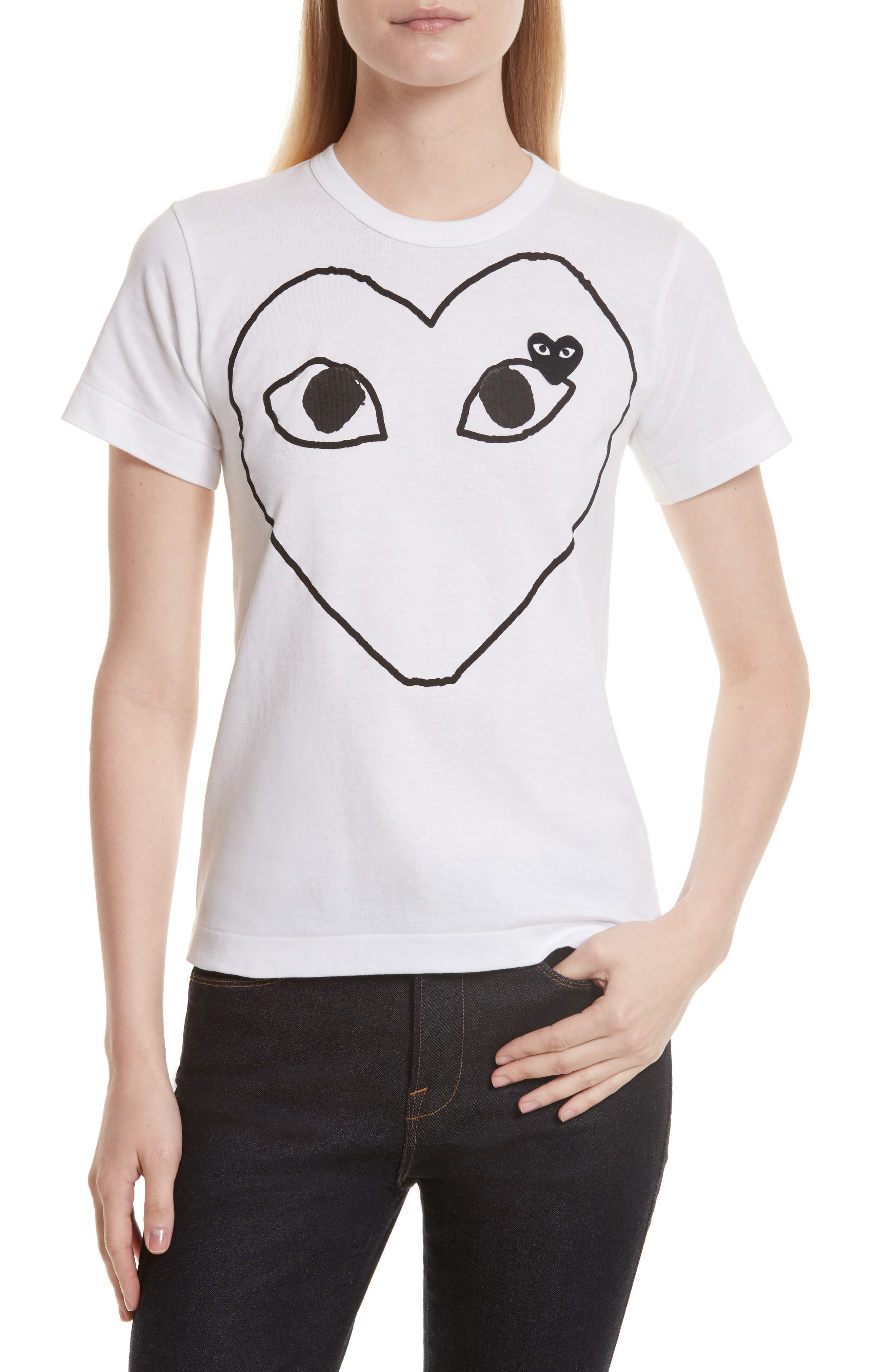 Main Image - Comme des Garçons PLAY Outline Heart Tee