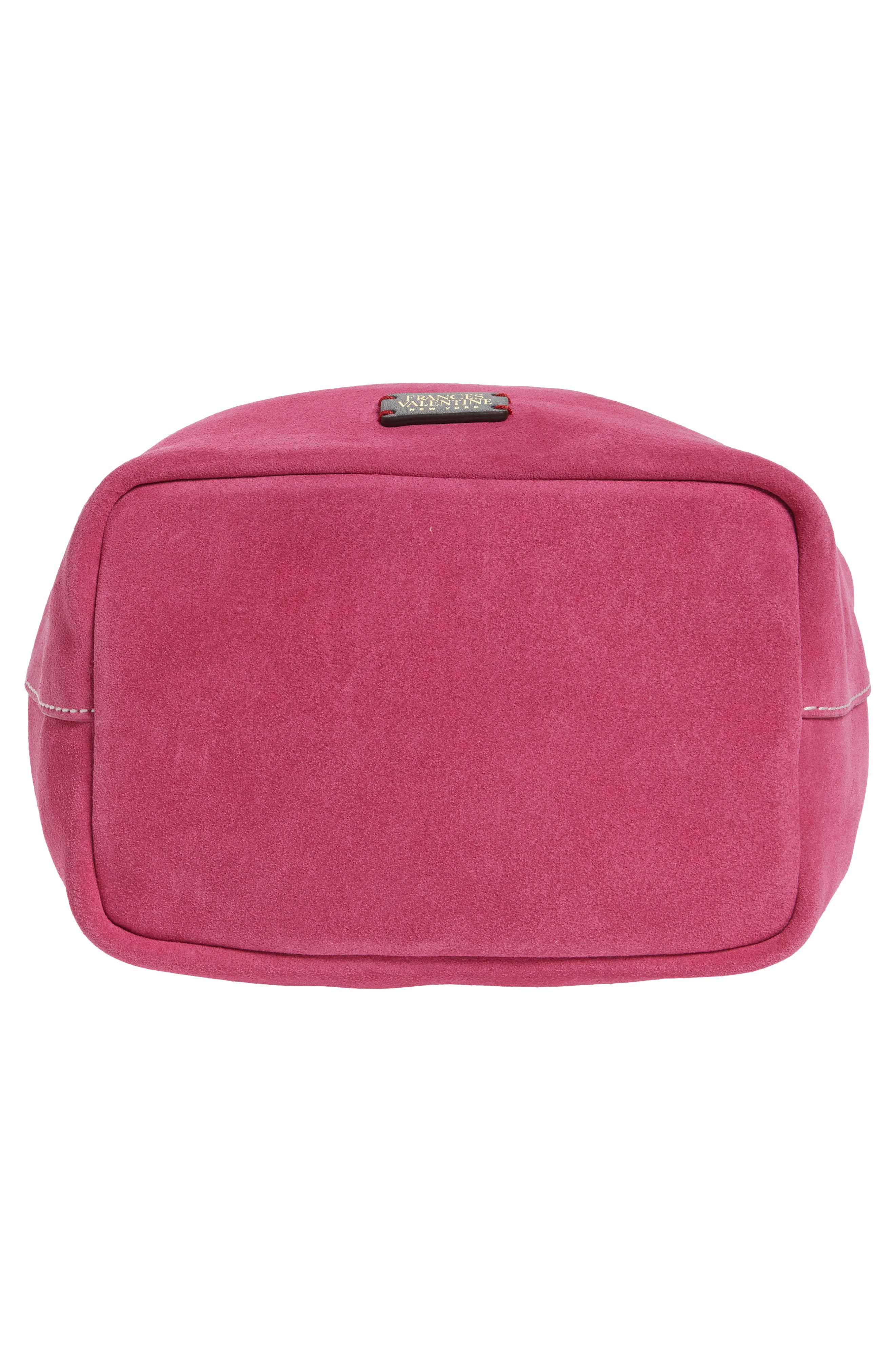 Ann Small Suede Bucket,                             Alternate thumbnail 6, color,                             Pink