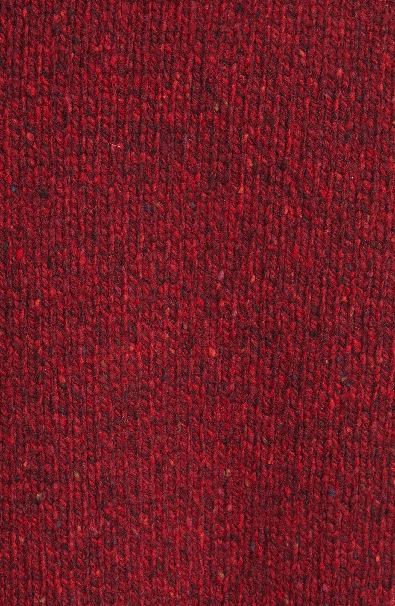 Destroyed Crewneck Sweater,                             Alternate thumbnail 5, color,                             Red