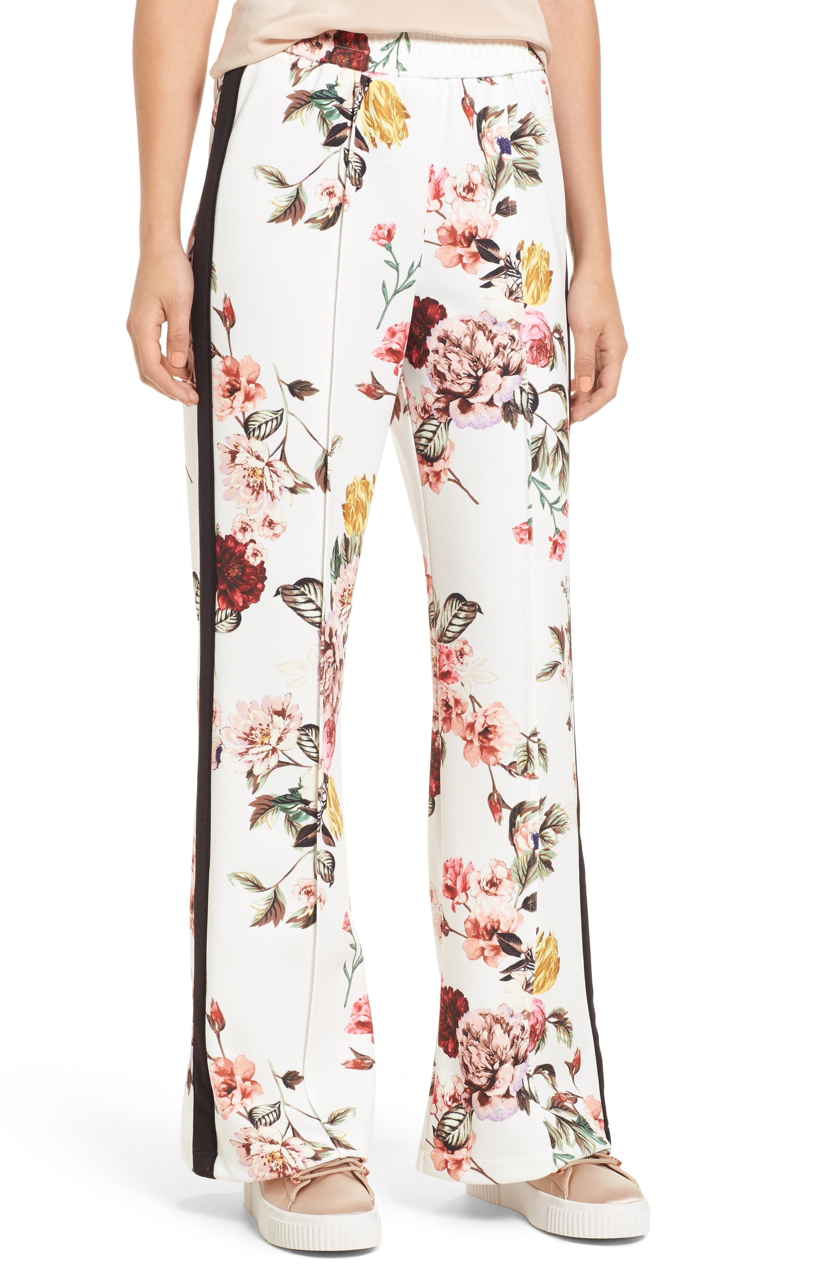 Aspen Track Pants,                         Main,                         color, Primrose Blanc