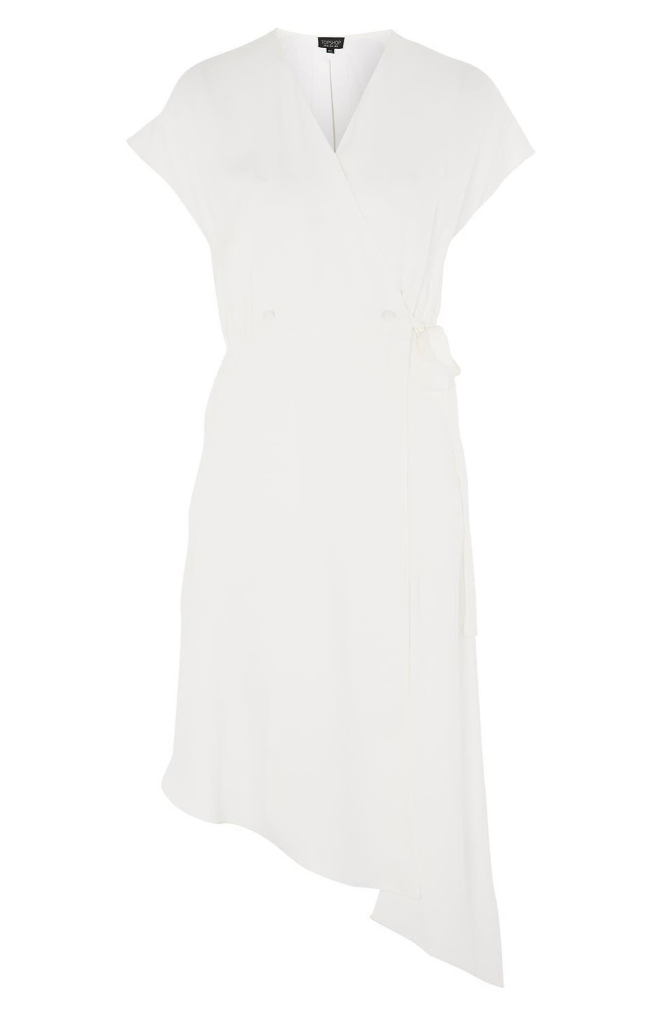 Alternate Image 3  - Topshop Asymmetrical Wrap Midi Dress