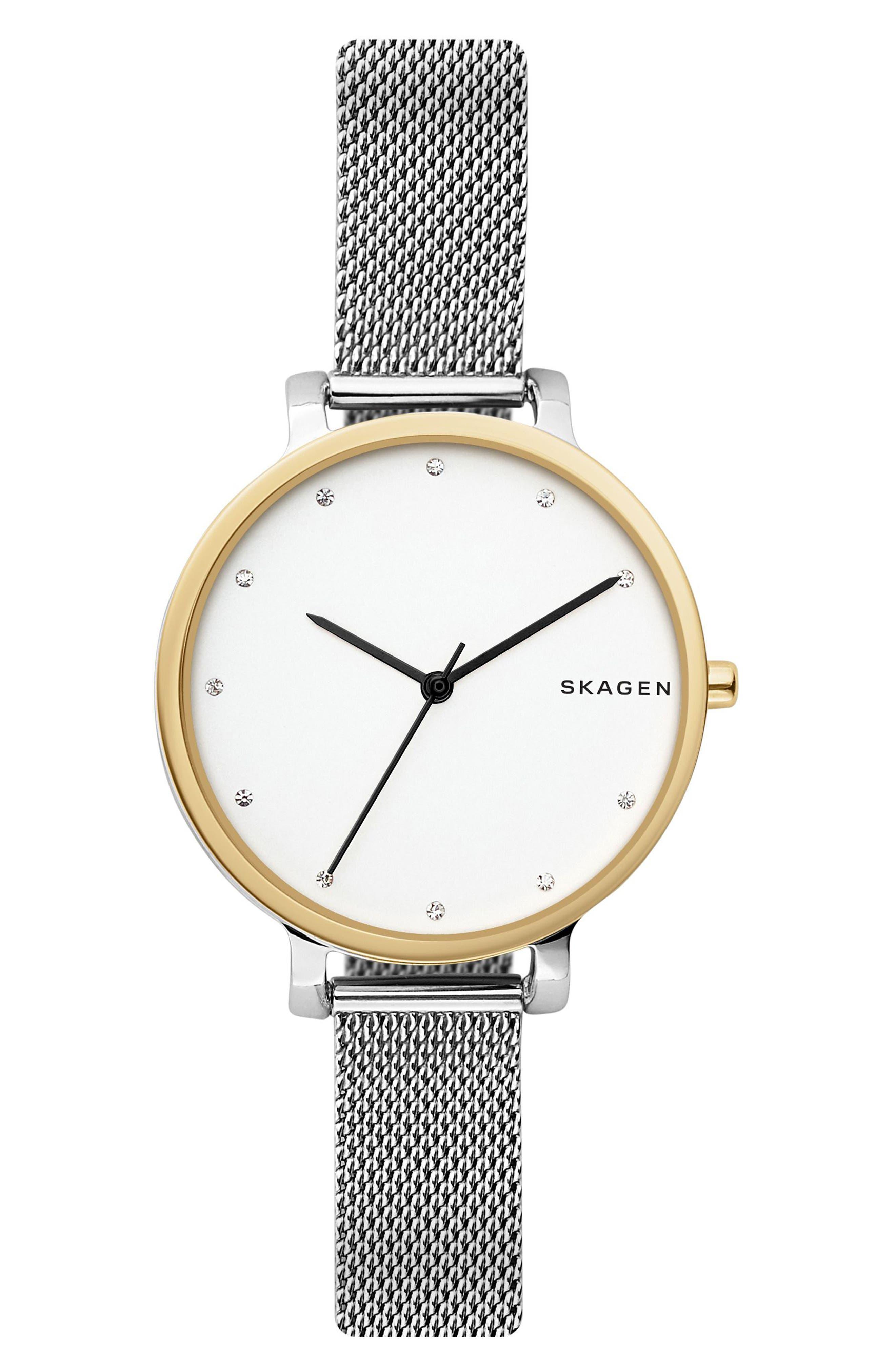 Skagen Hagen Mesh Strap Watch, 34mm