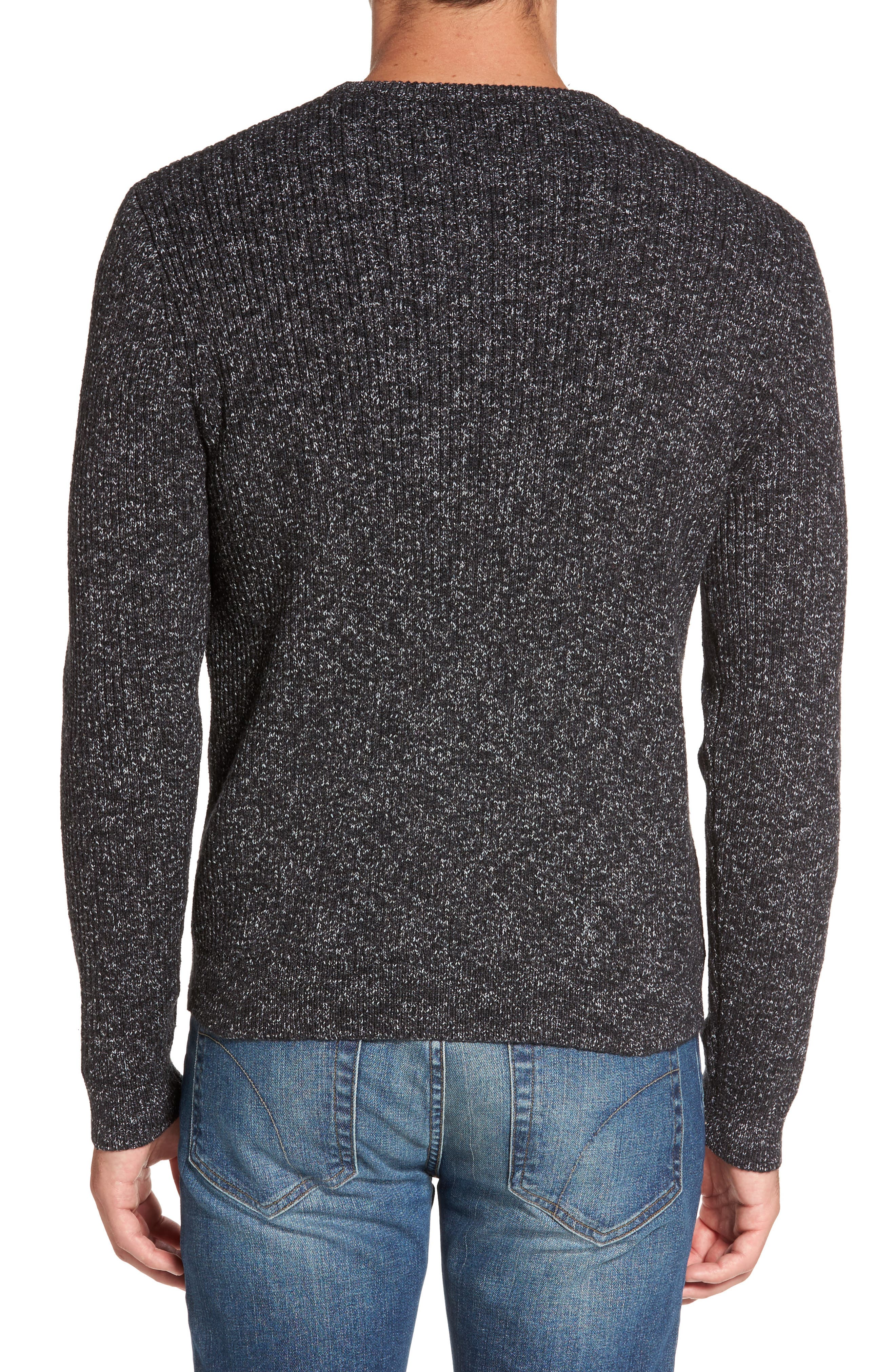 Donegal Space Dye Nep Sweater,                             Alternate thumbnail 2, color,                             Charcoal Donegal