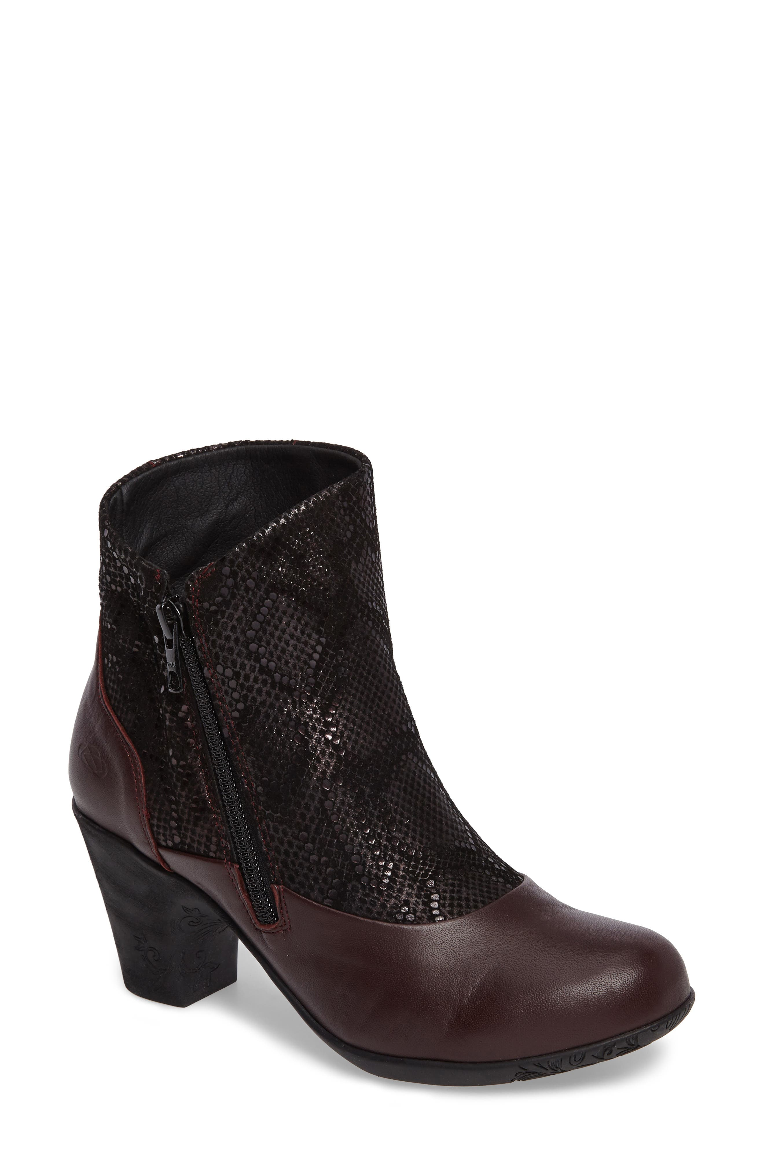 CLOUD Janis Snake Embossed Bootie (Women)