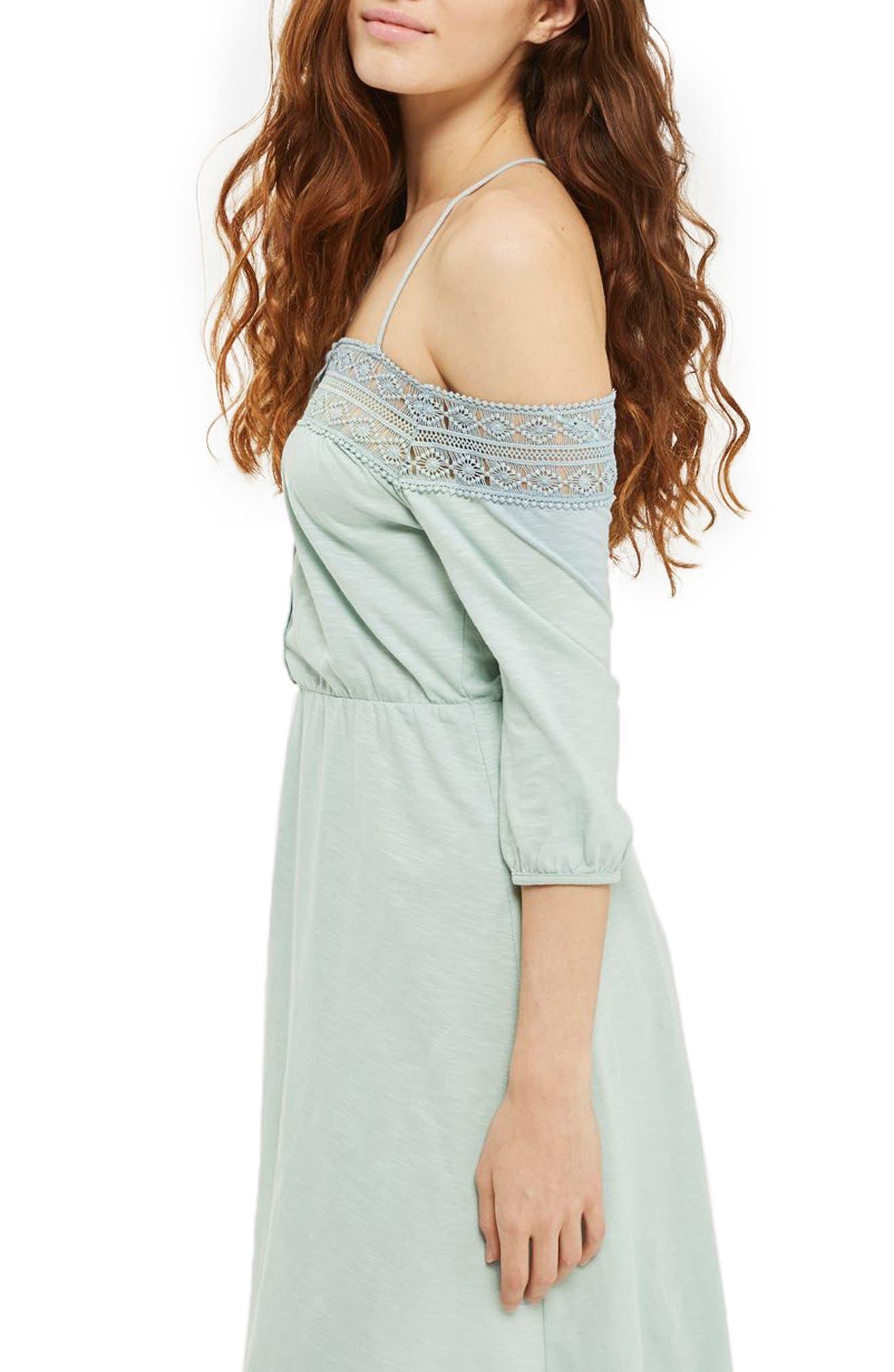 Alternate Image 3  - Topshop Crochet Off the Shoulder Sundress