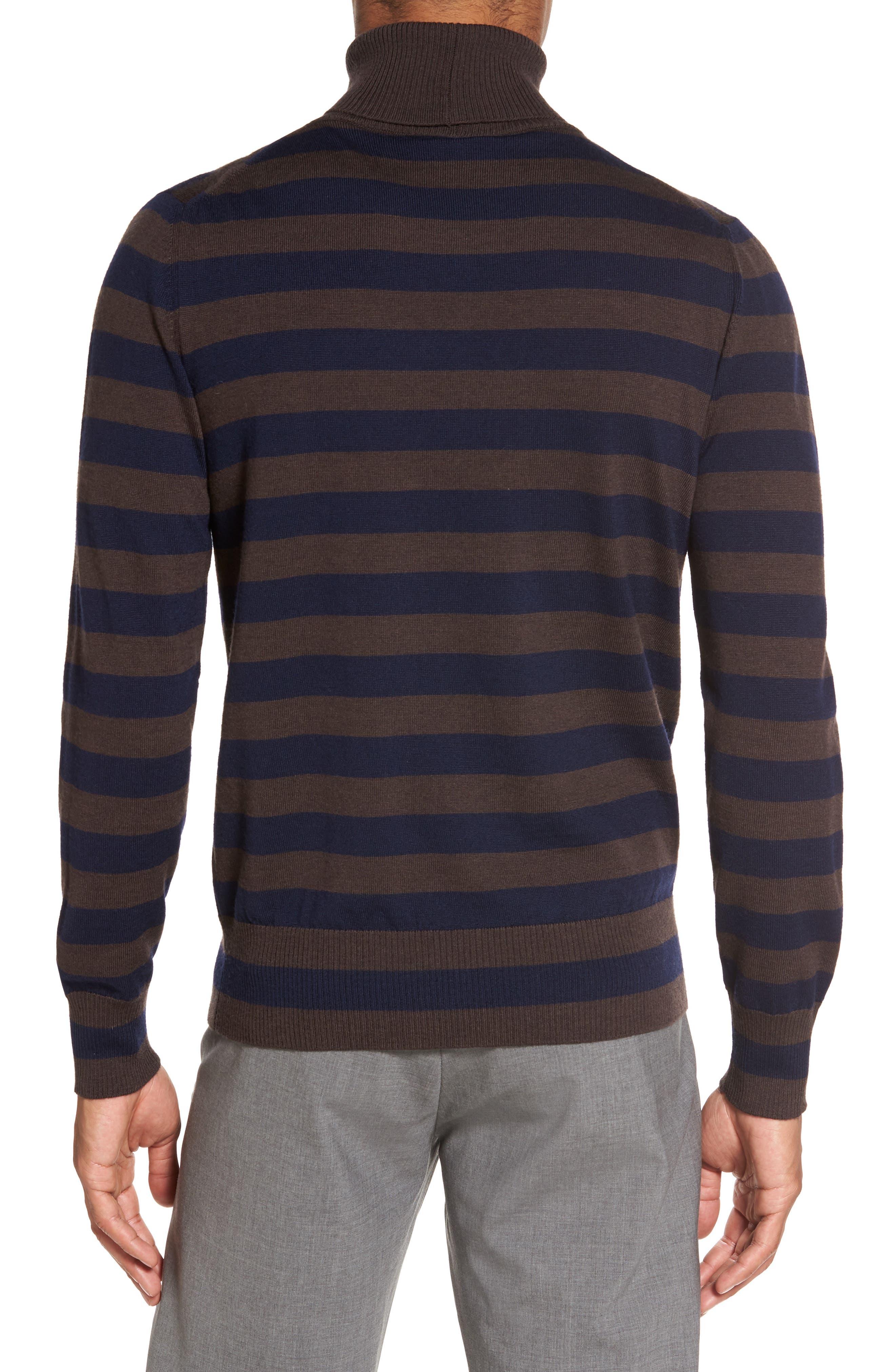 Alternate Image 2  - Eleventy Striped Turtleneck Sweater