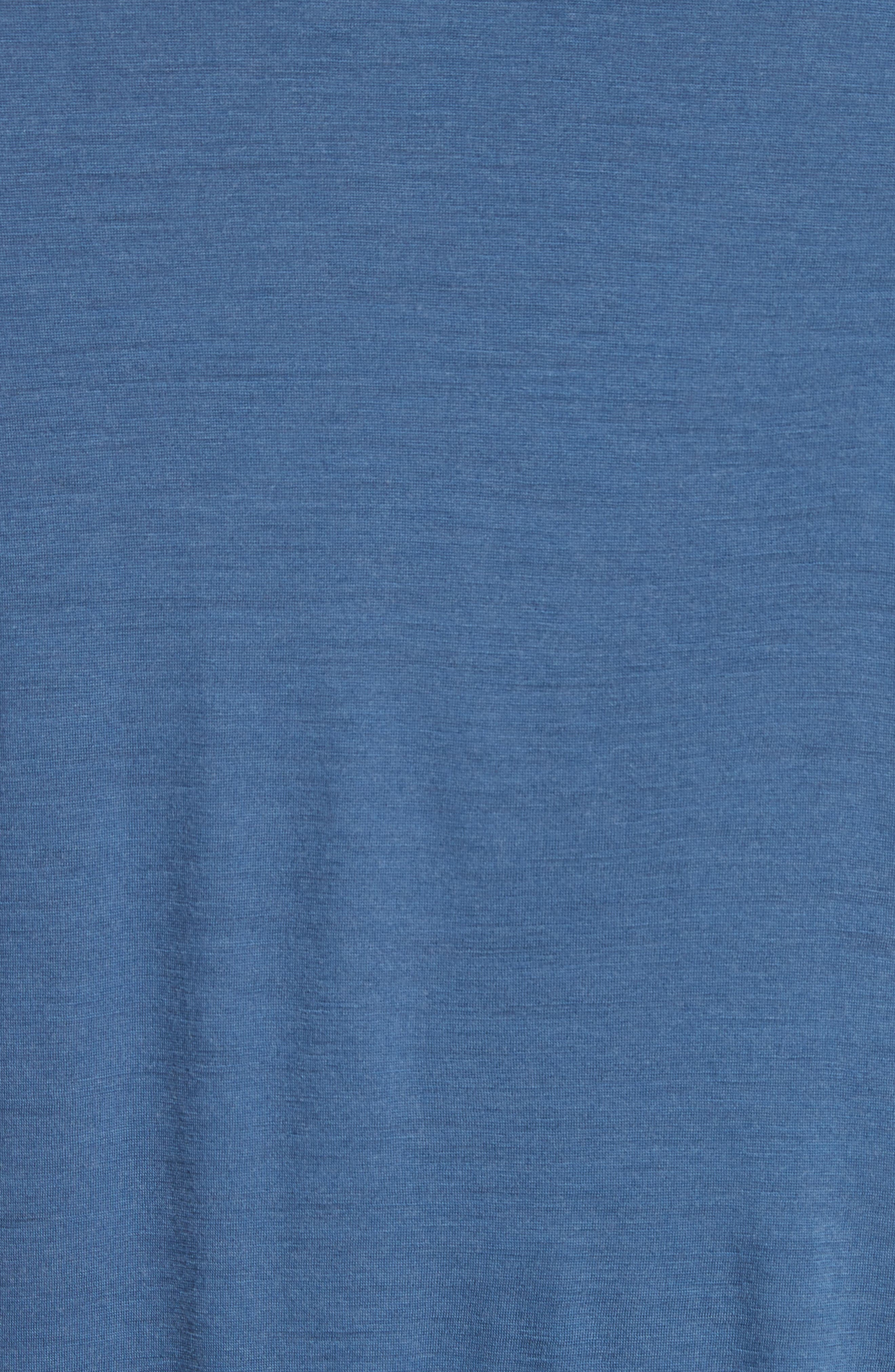 Frame Merino Wool T-Shirt,                             Alternate thumbnail 5, color,                             Navy