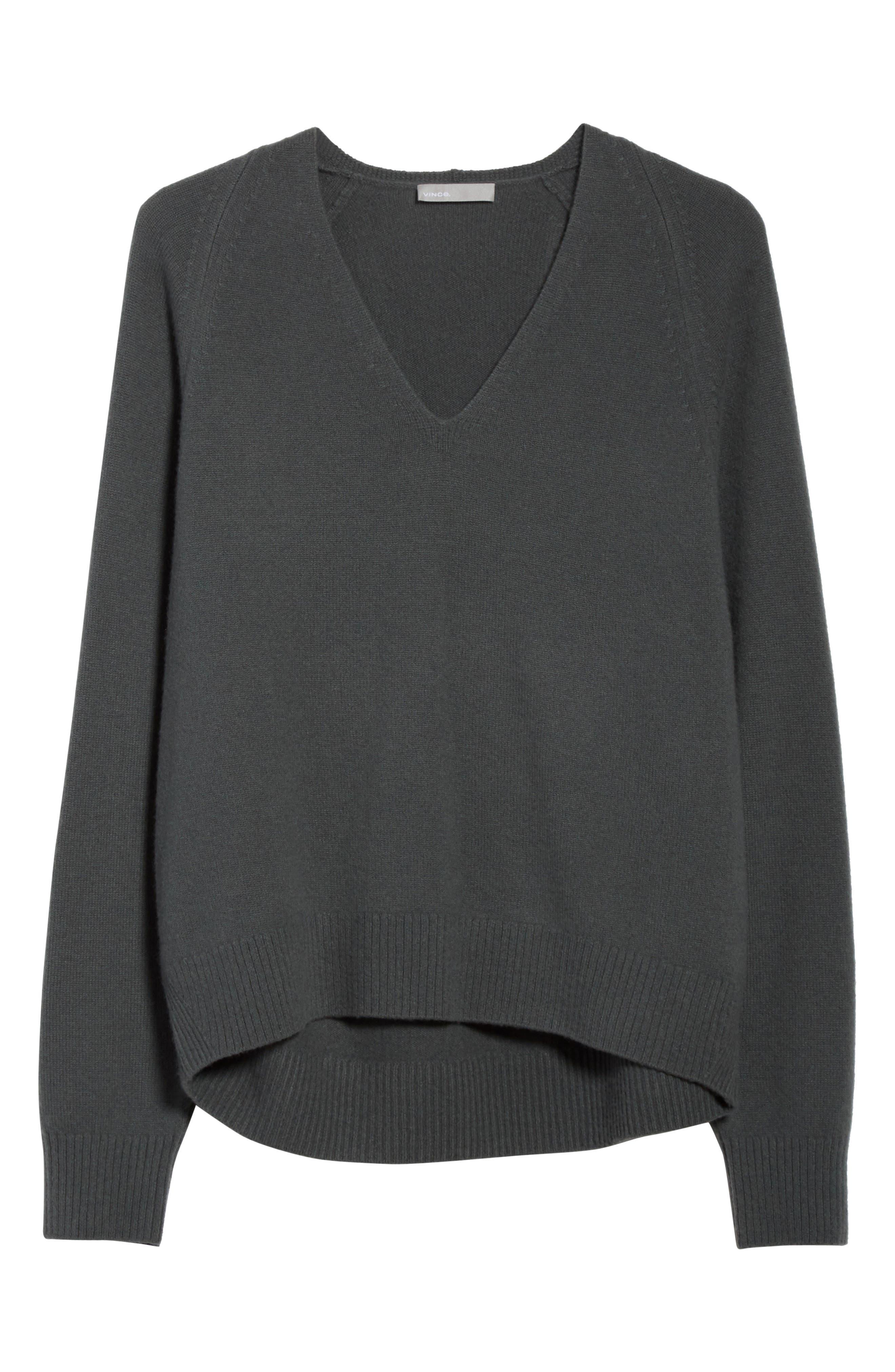 Alternate Image 6  - Vince Deep V-Neck Cashmere Sweater