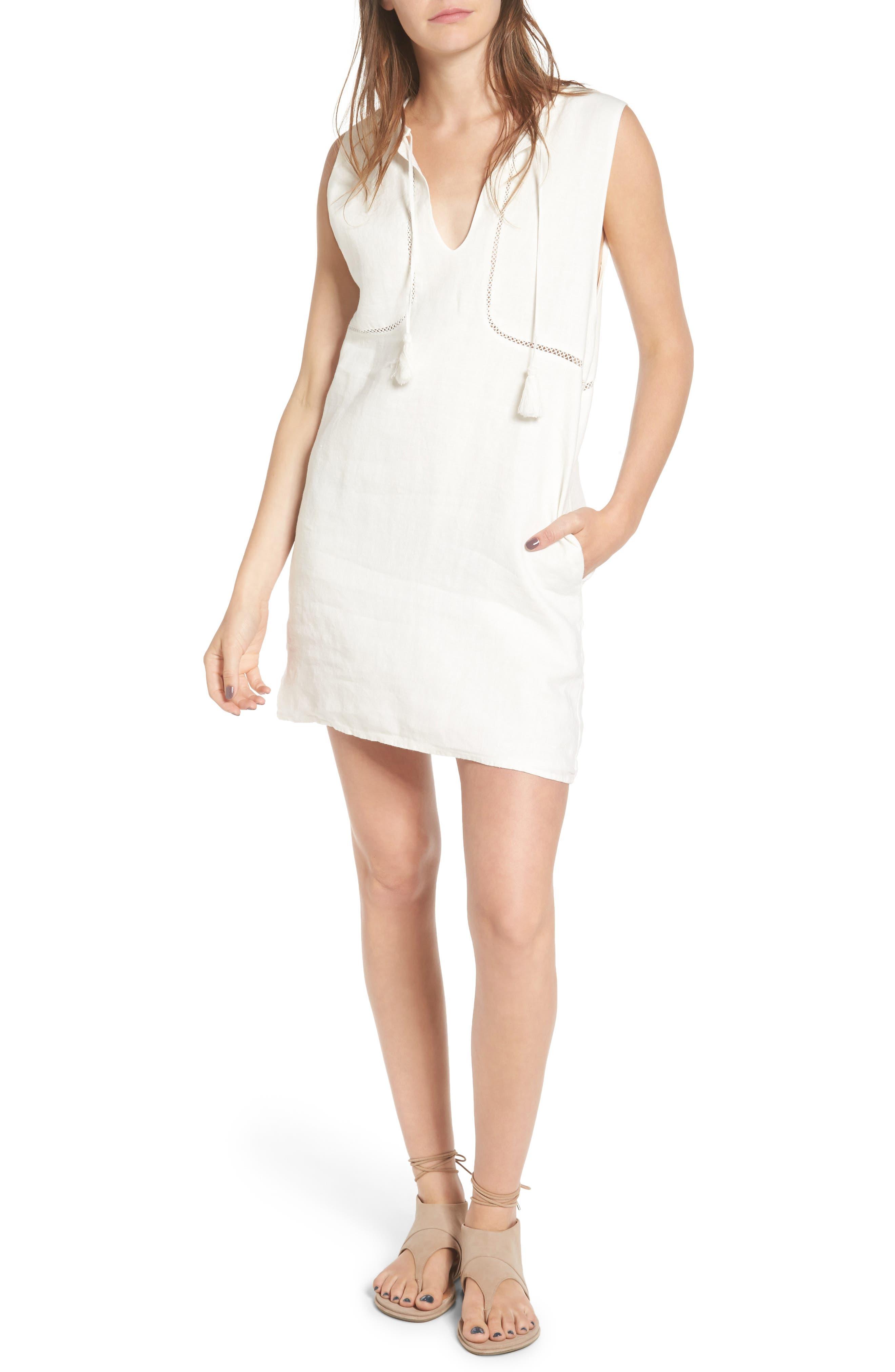 SINCERELY JULES Sleeveless Linen Shift Dress
