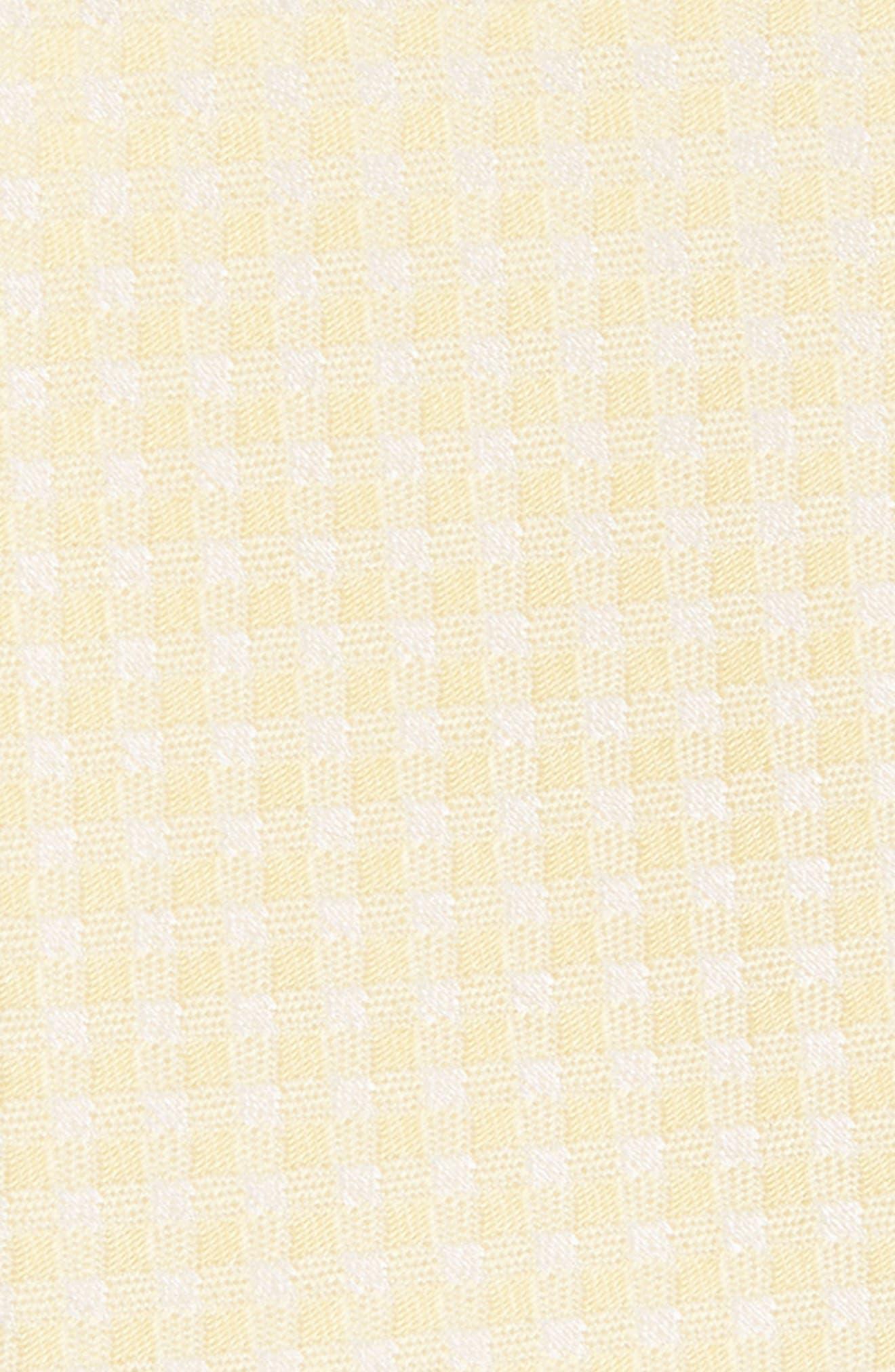 Check Silk Tie,                             Alternate thumbnail 2, color,                             Butter