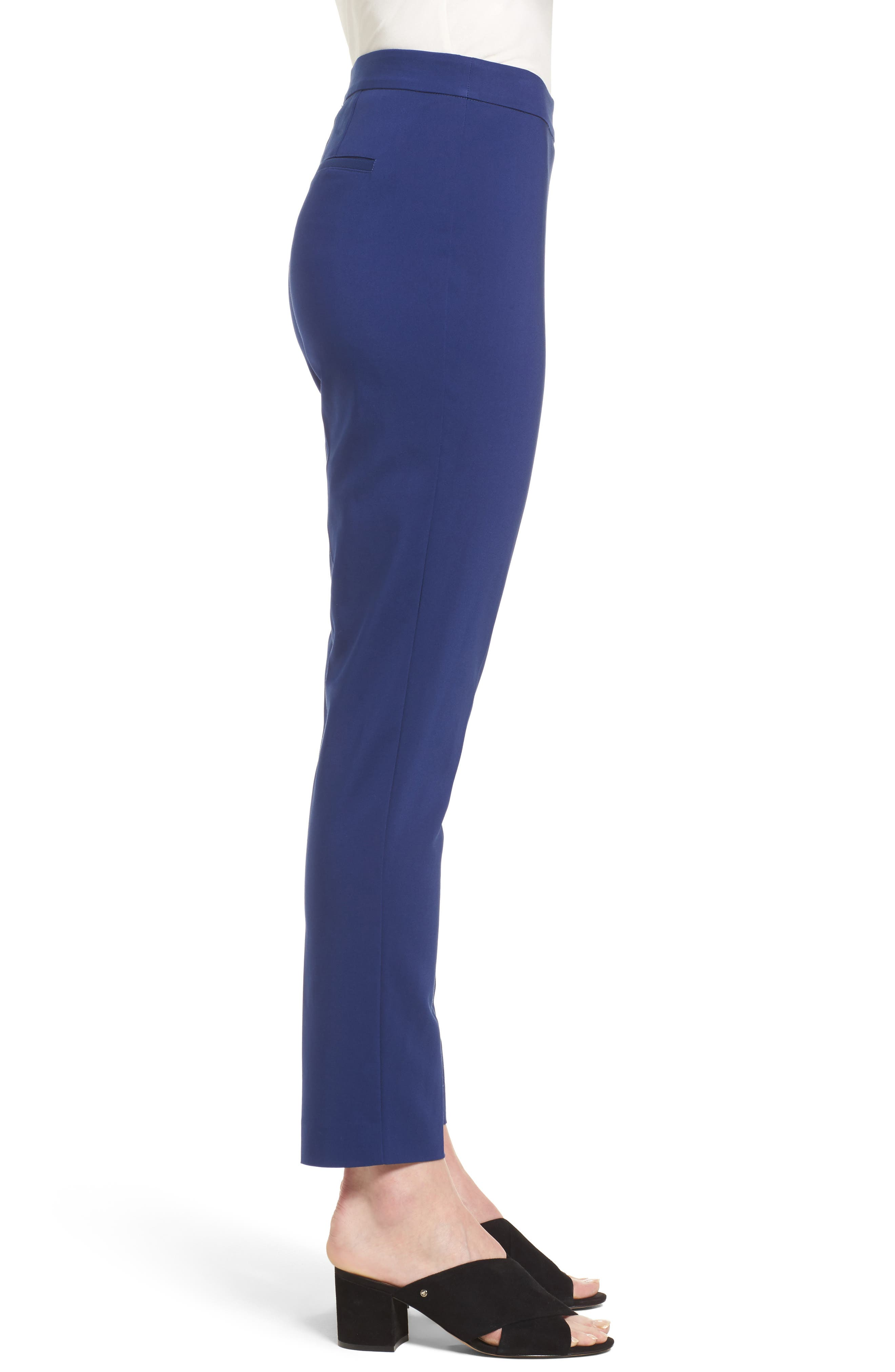 Jackie Pull-On Ankle Pants,                             Alternate thumbnail 3, color,                             Blue Depths
